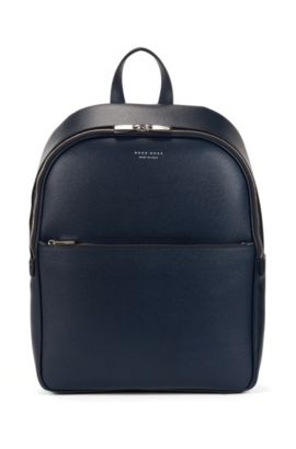 Signature Collection backpack in palmellato leather, Dark Blue