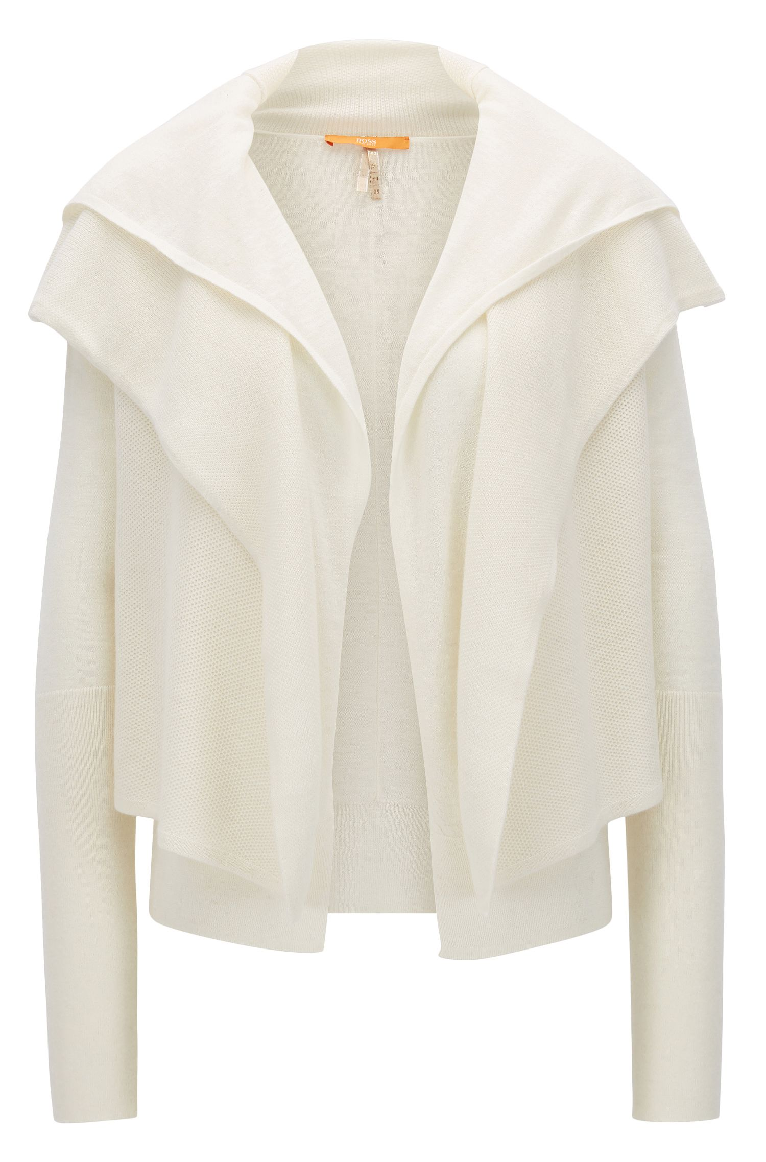 Double-fronted cardigan in structured fabric