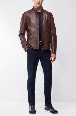 fdf6f82d HUGO BOSS | Leather Jackets for Men | Premium Lambskin Jackets