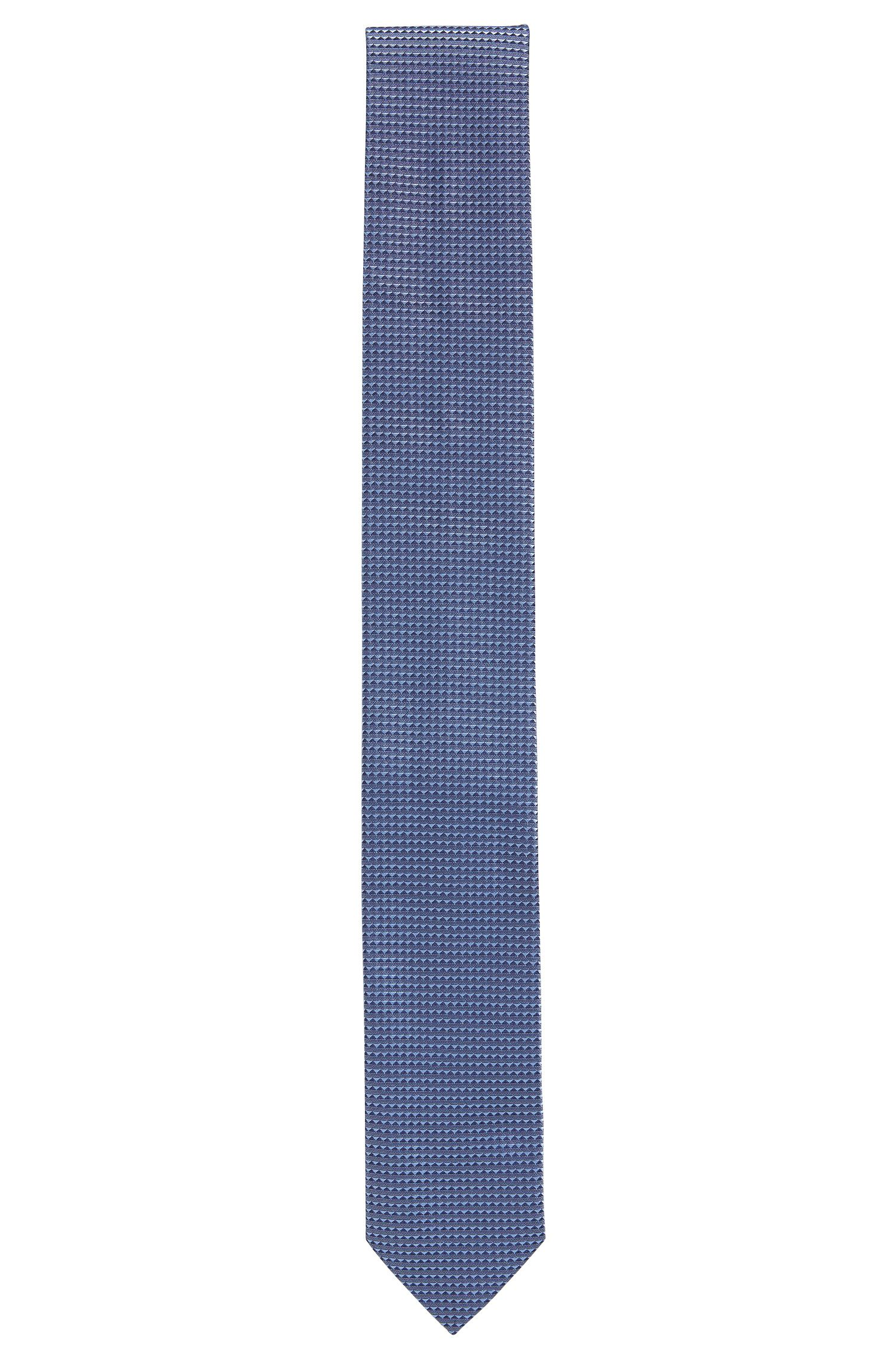 Micro-pattern jacquard tie in pure silk