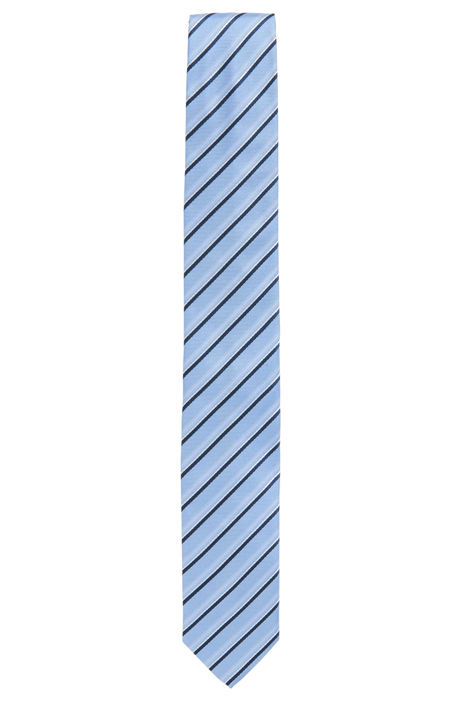 Striped silk jacquard tie