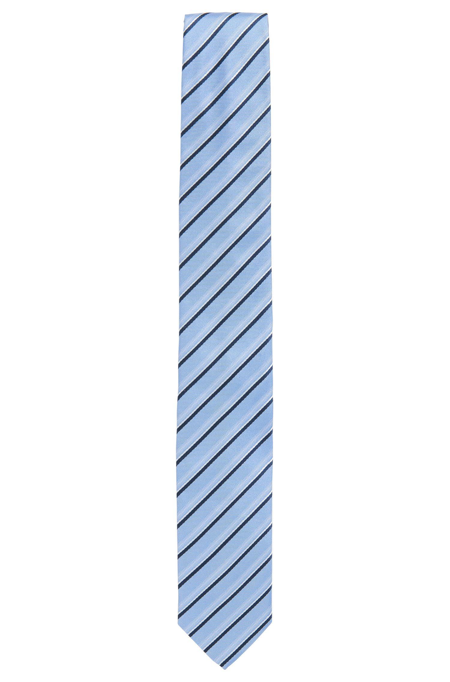Gestreifte Krawatte aus Seiden-Jacquard