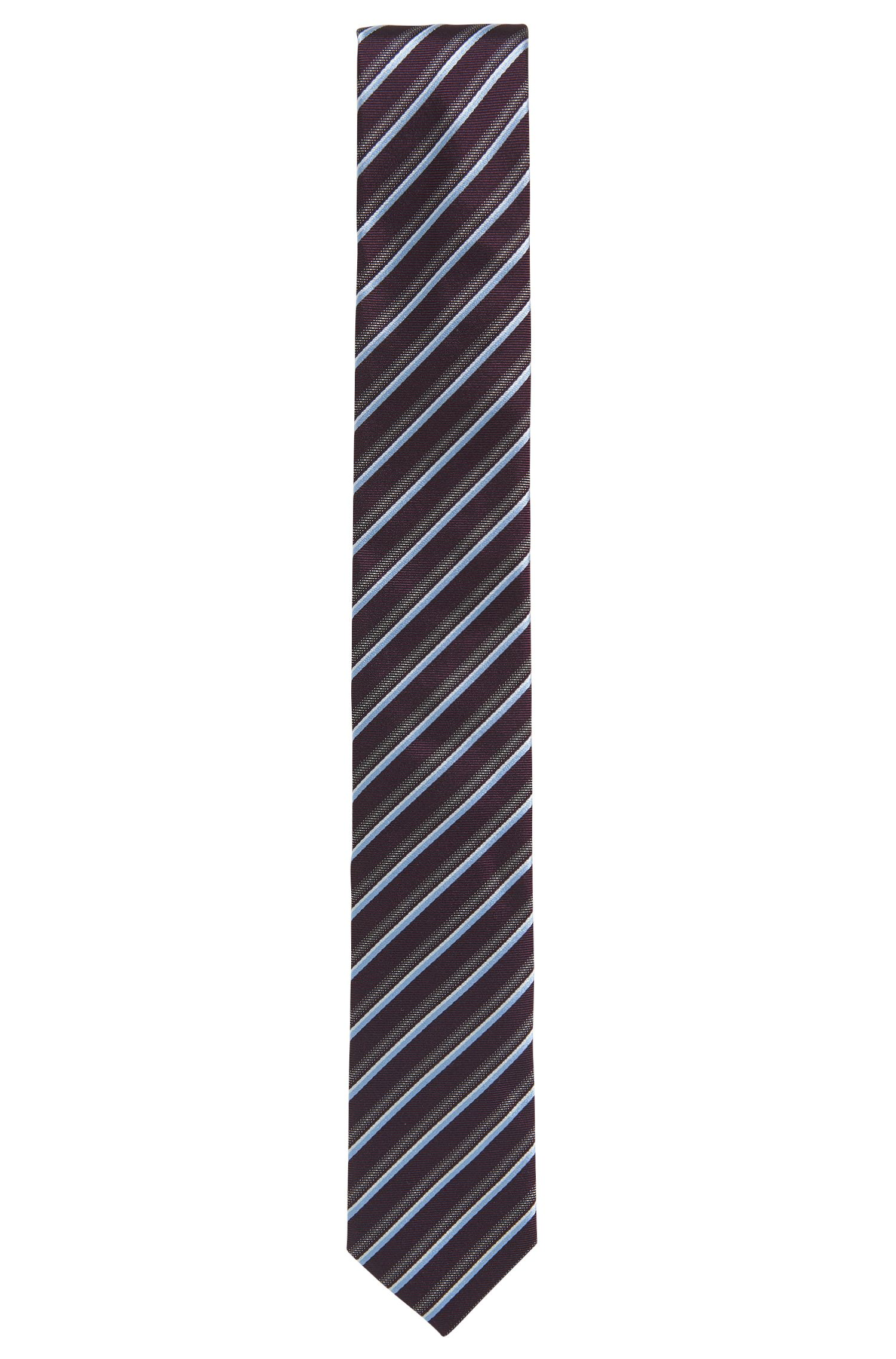 Cravatta in seta jacquard a righe