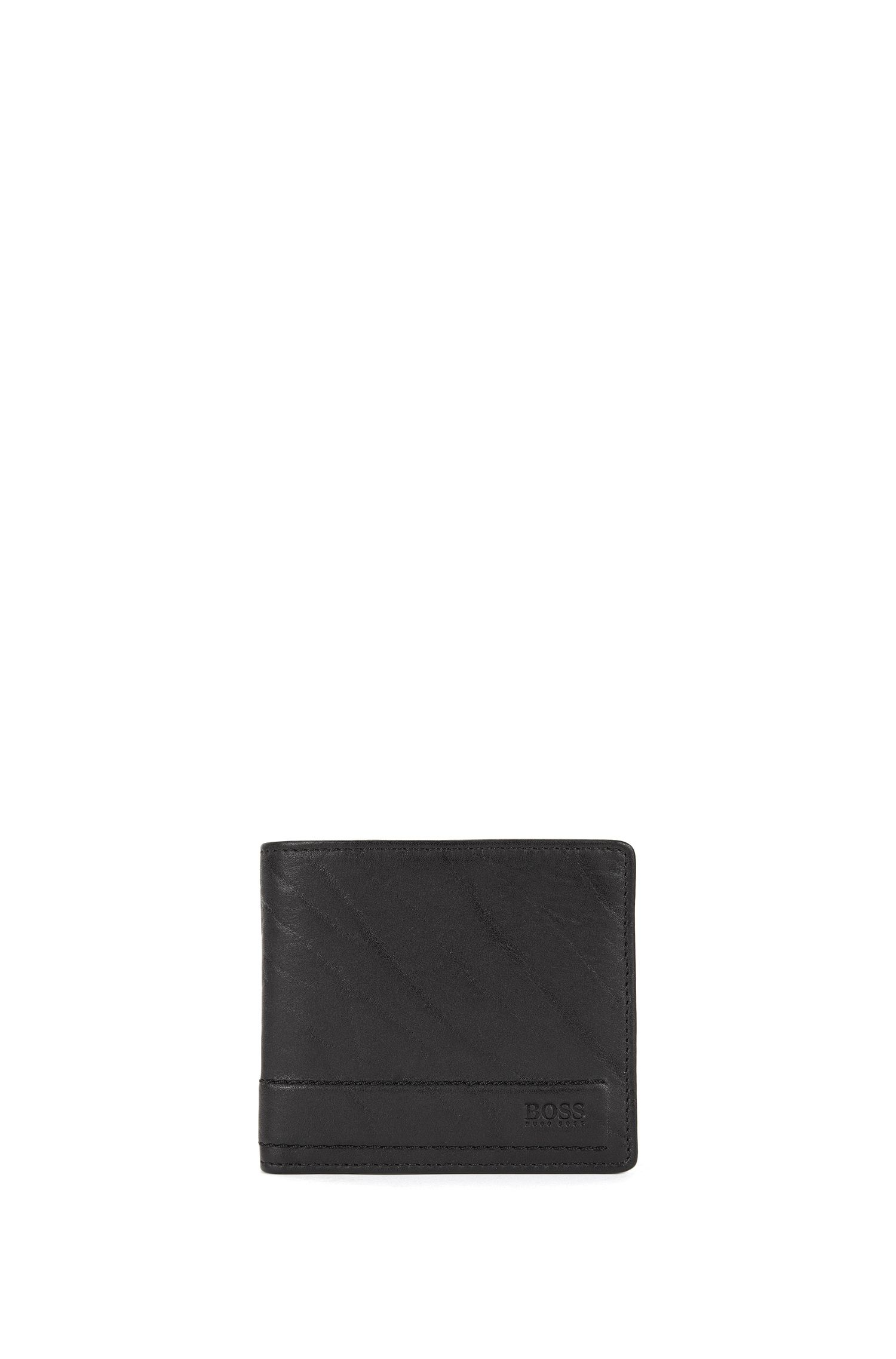 Bi-fold wallet in rich leather