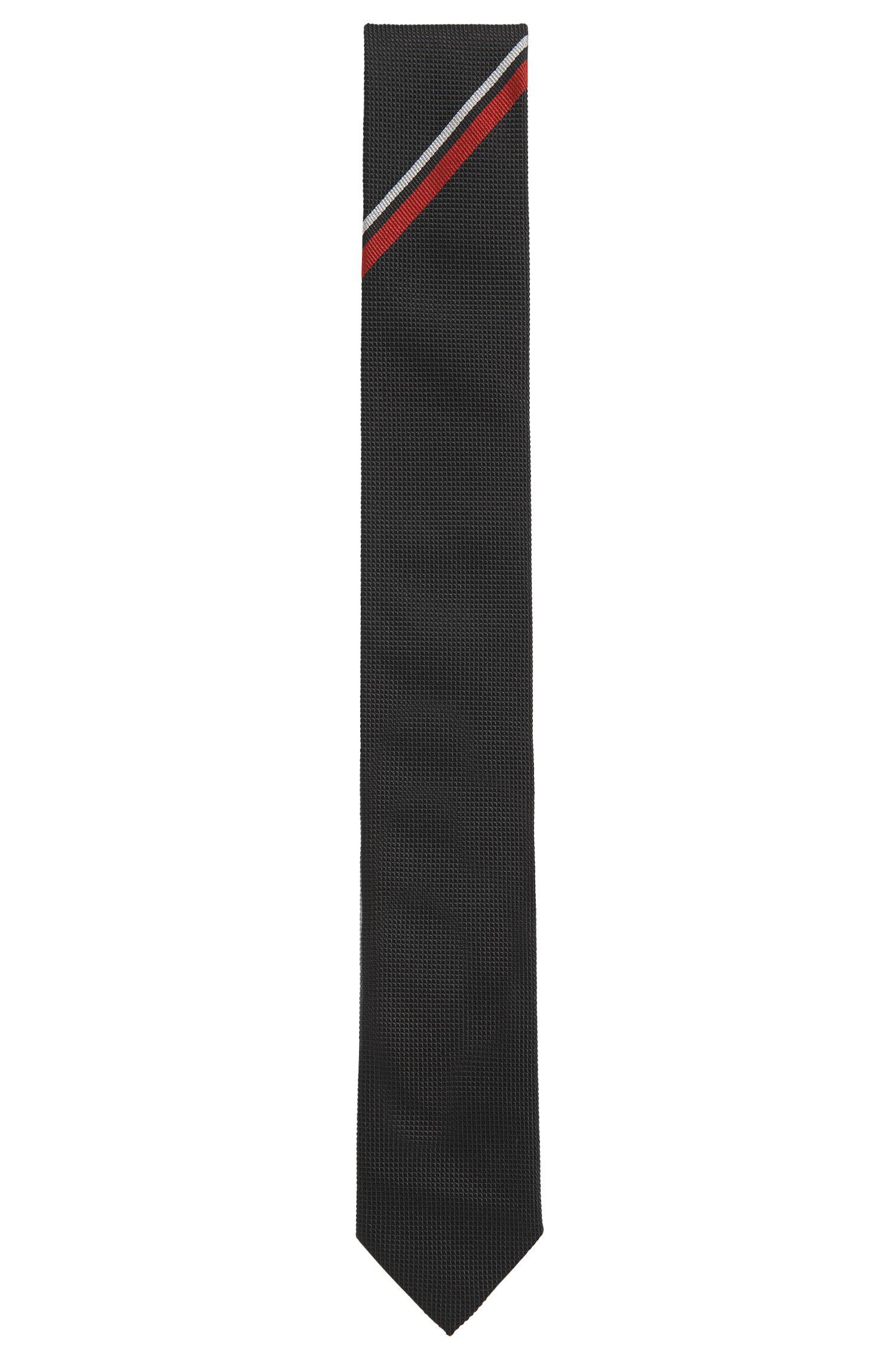 Krawatte aus Seiden-Jacquard mit Webstreifen