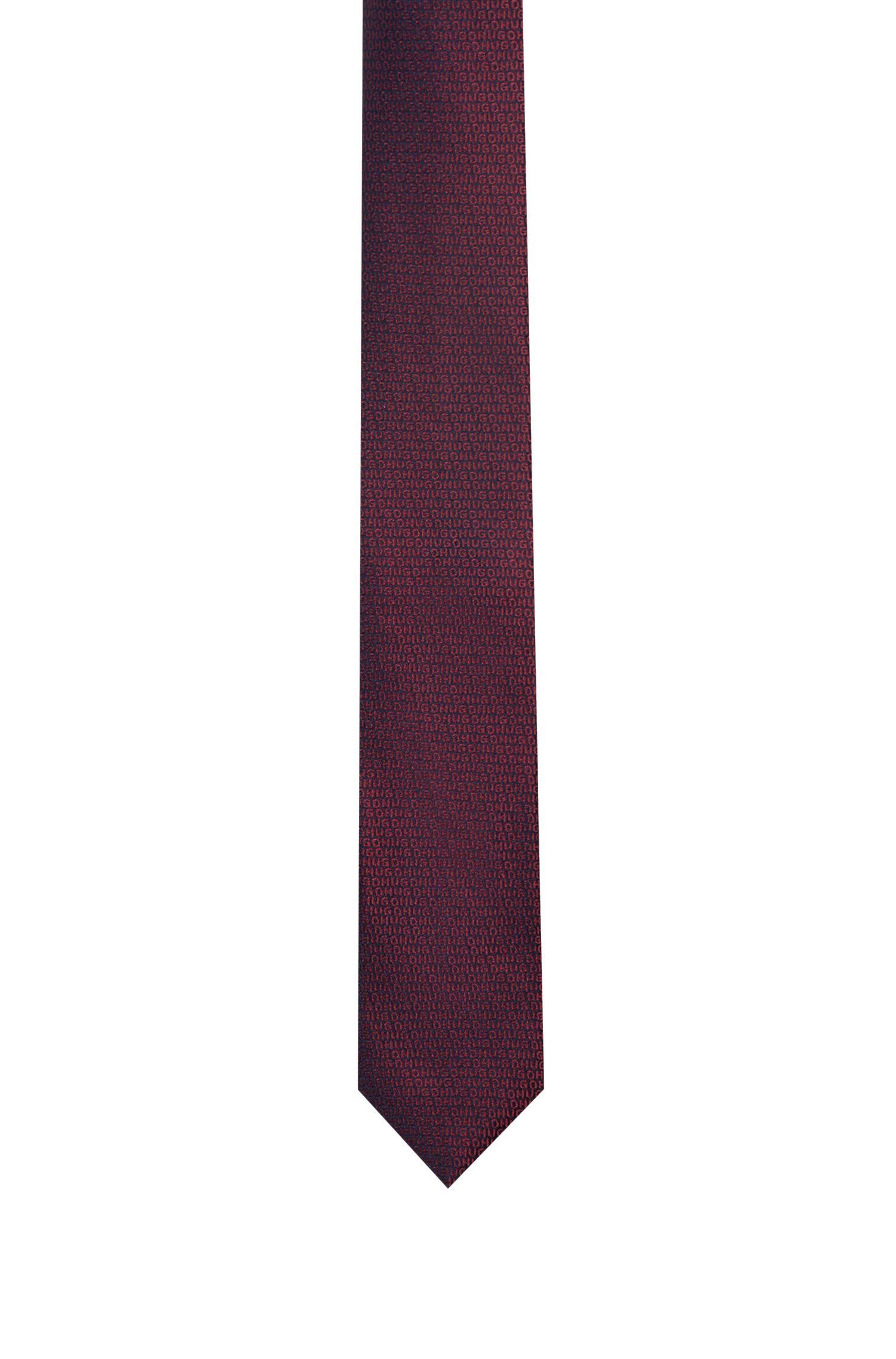 Cravate en jacquard de soie avec logo