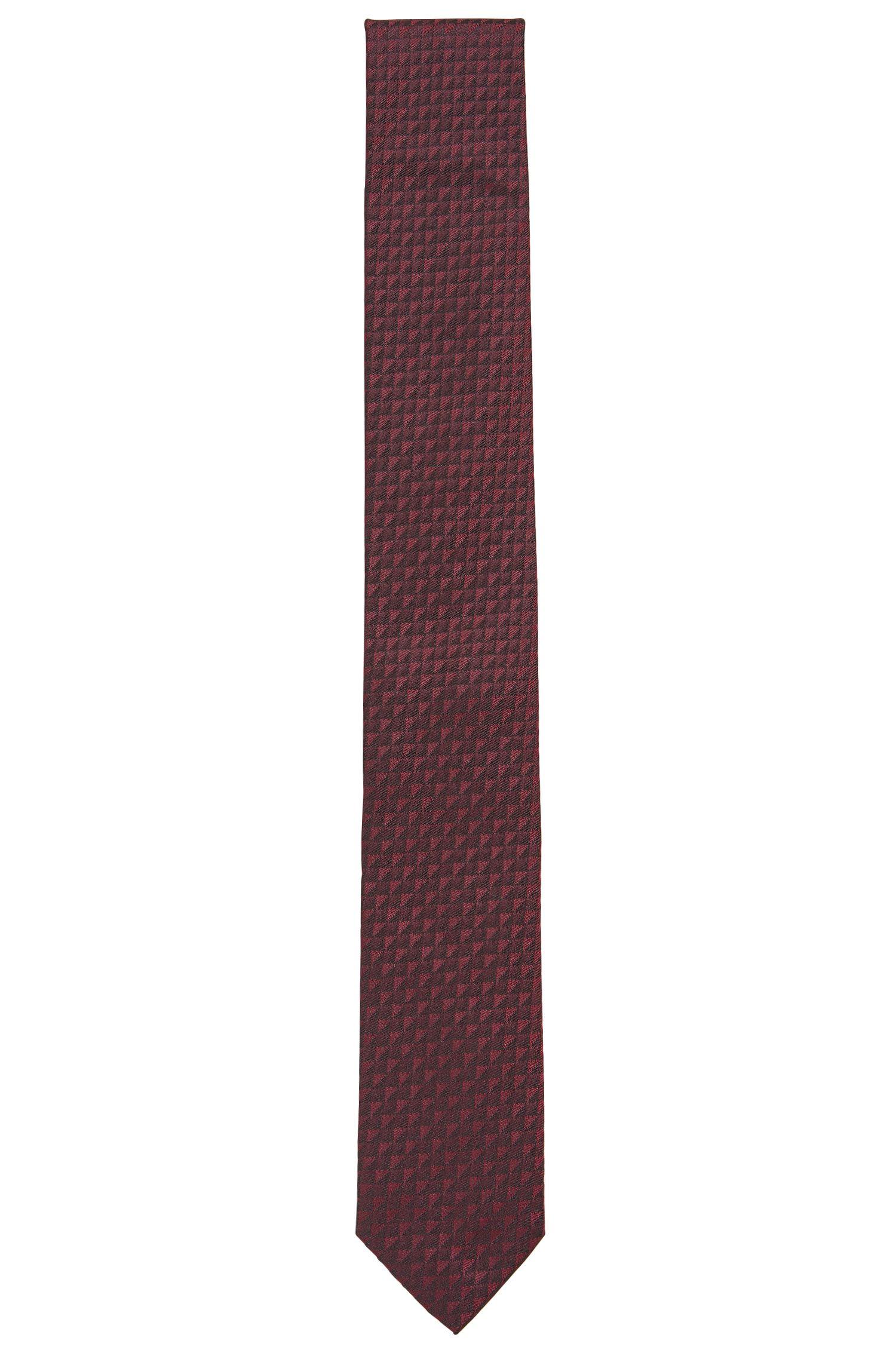 Cravate en jacquard de soie à micro-motif effet3D