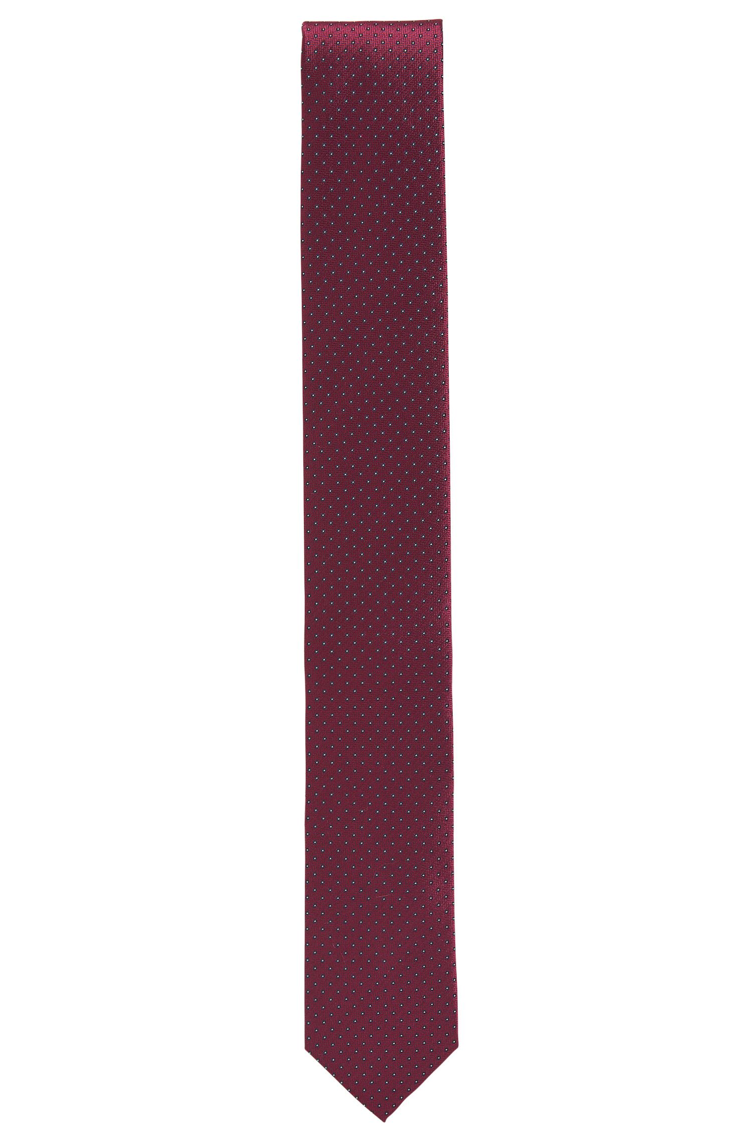 Silk tie with dot pattern