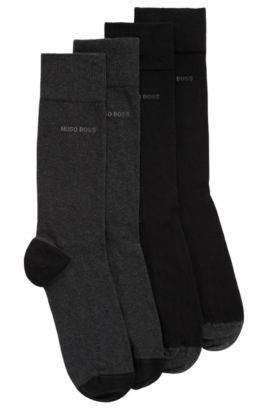 Two-pack of cotton-blend socks, Black