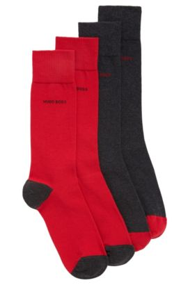 Two-pack of cotton-blend socks, Patterned