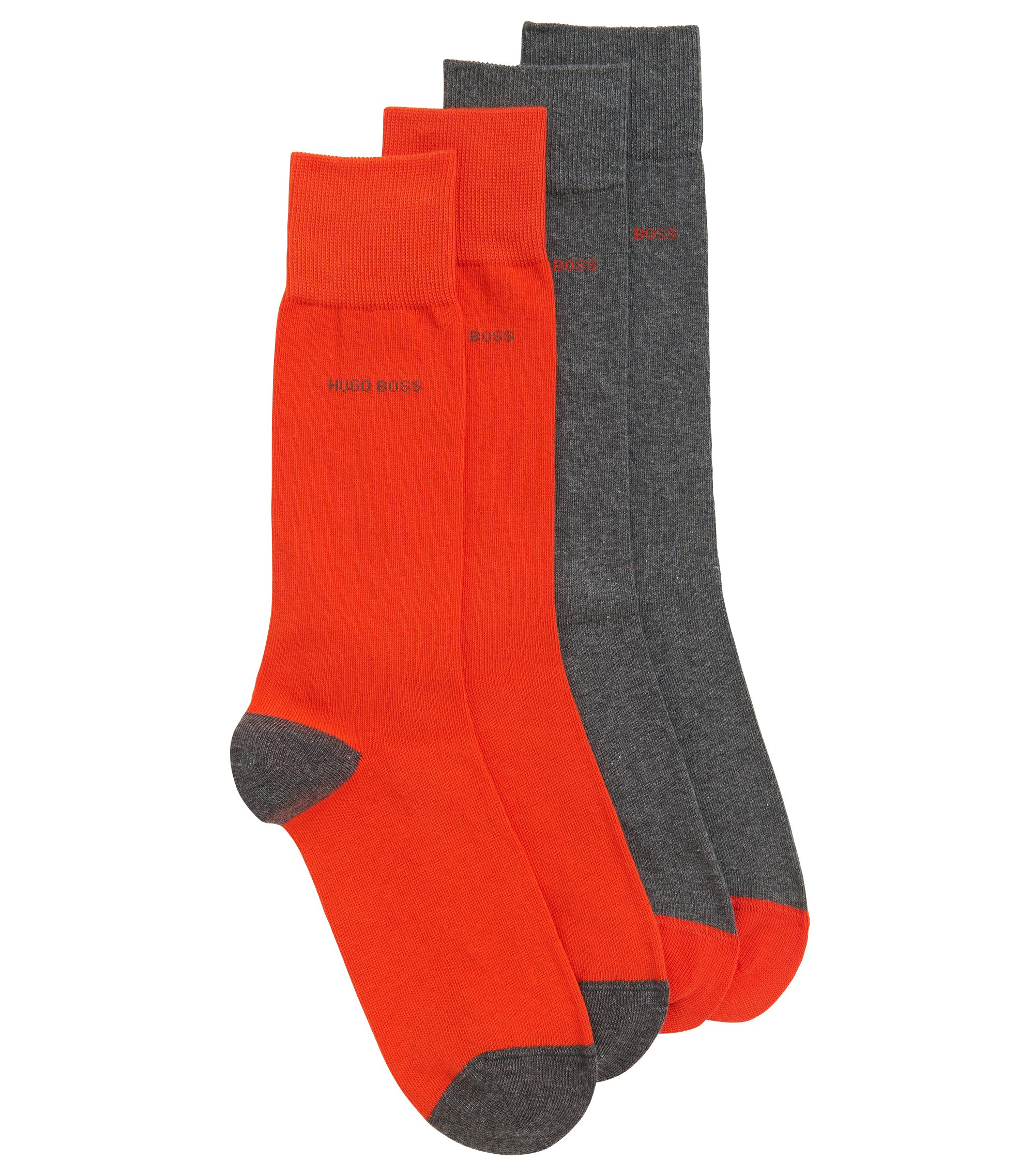 Two-pack of cotton-blend socks, Grey
