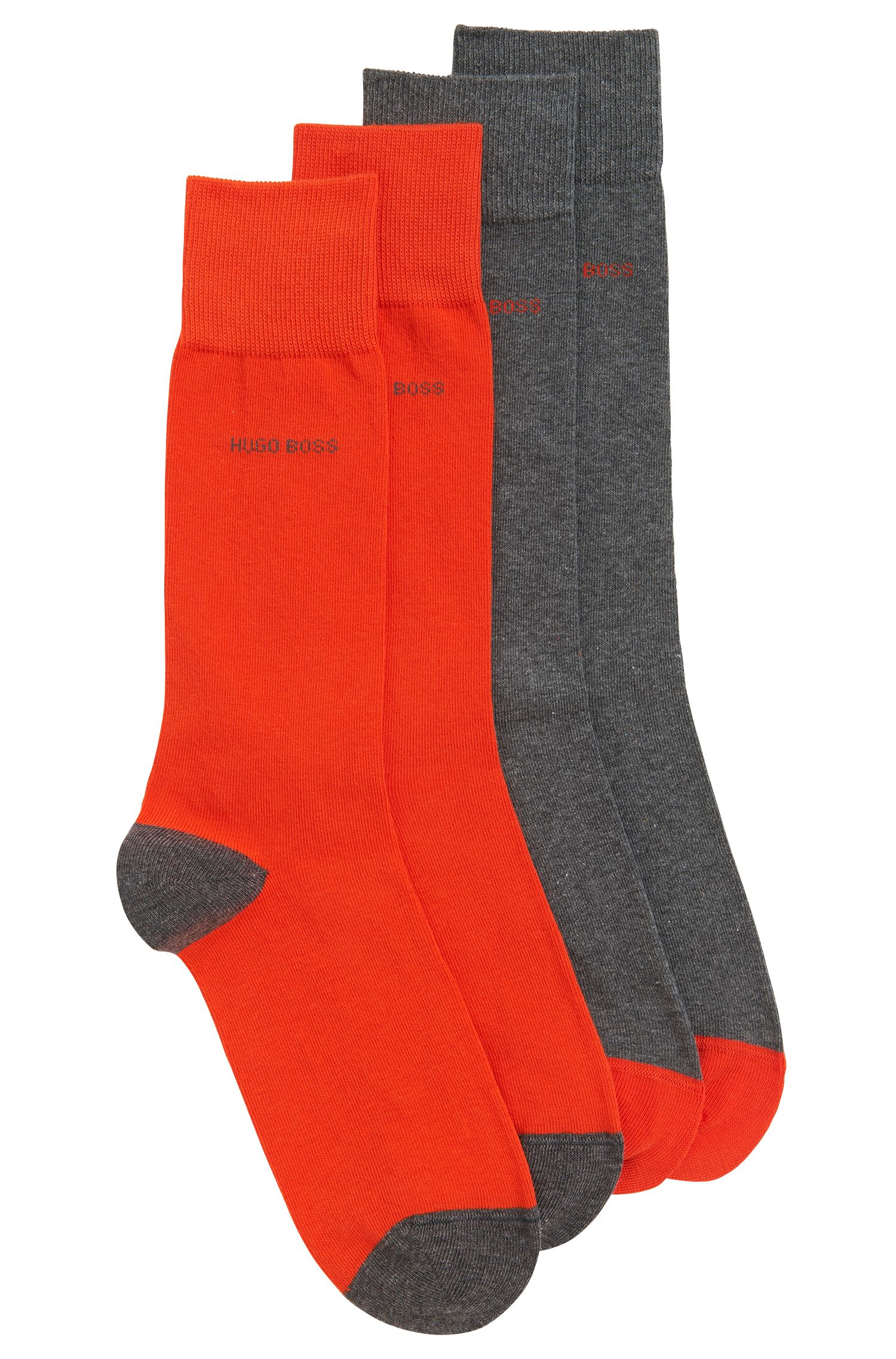 Two-pack of cotton-blend socks
