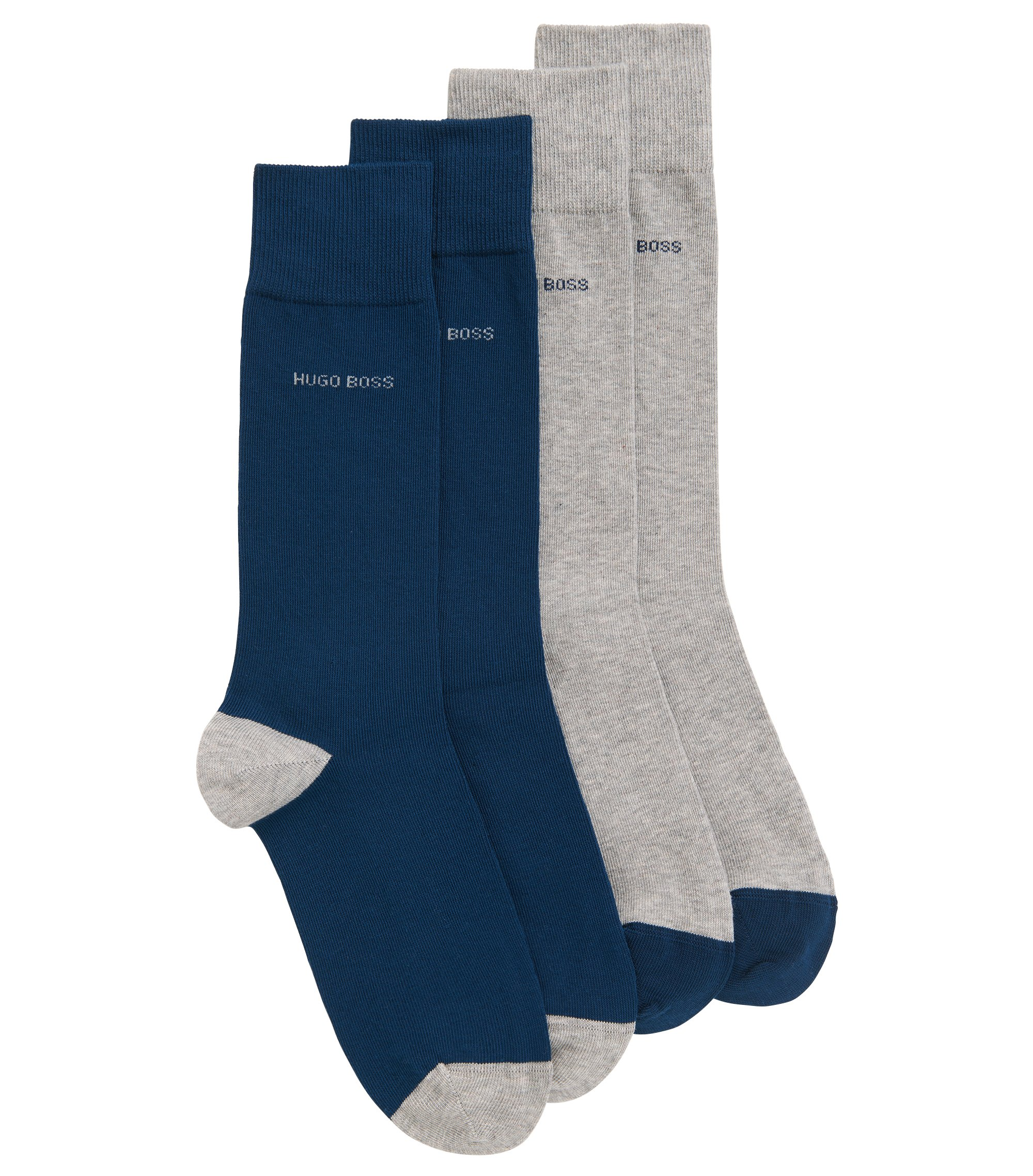 Two-pack of cotton-blend socks, Silver