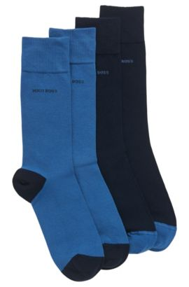 Two-pack of cotton-blend socks, Dark Blue