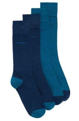 Socken aus elastischem Baumwoll-Mix im Zweier-Pack, Dunkelblau