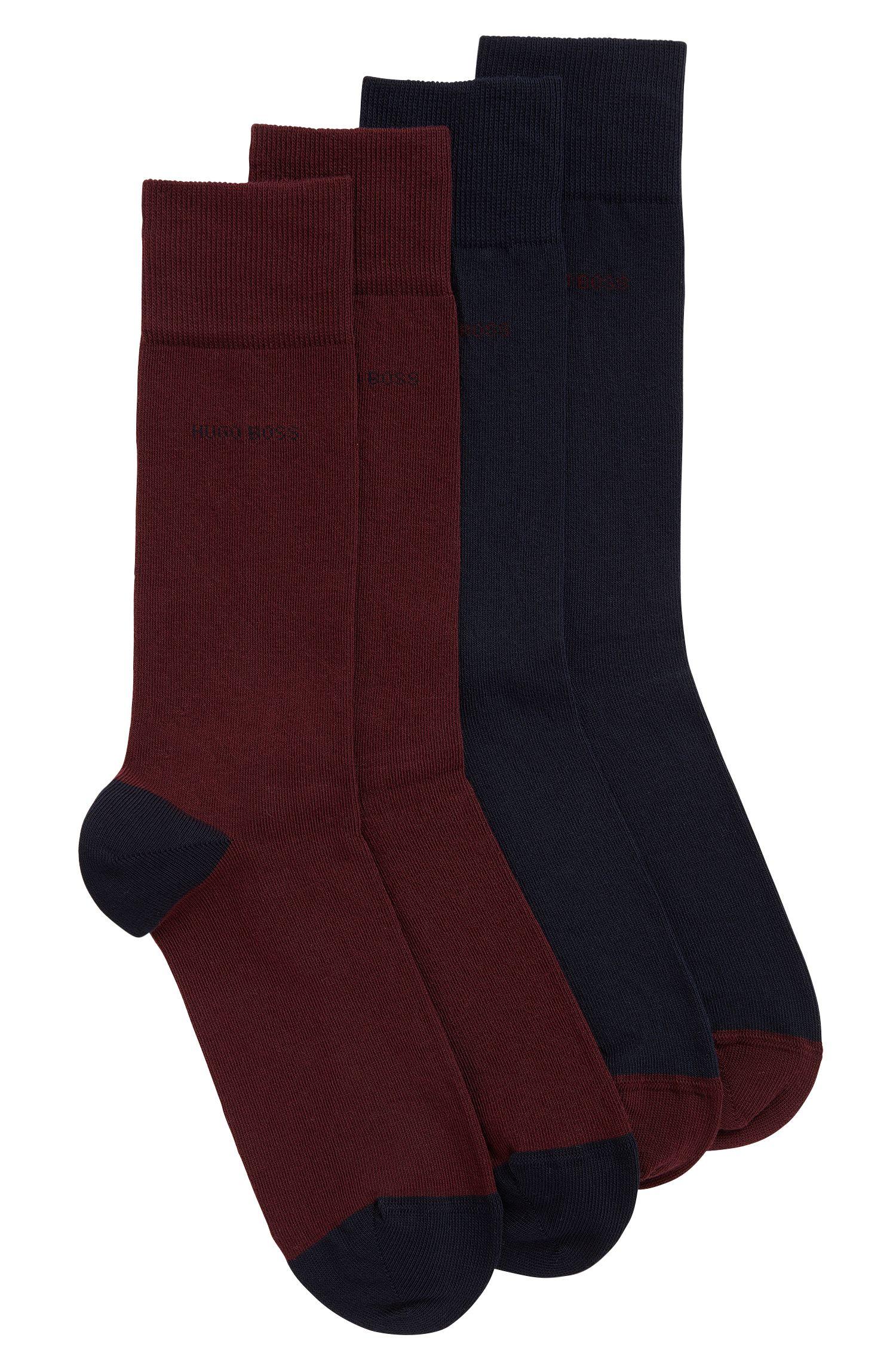 Chaussettes en coton mélangé en lot de deux