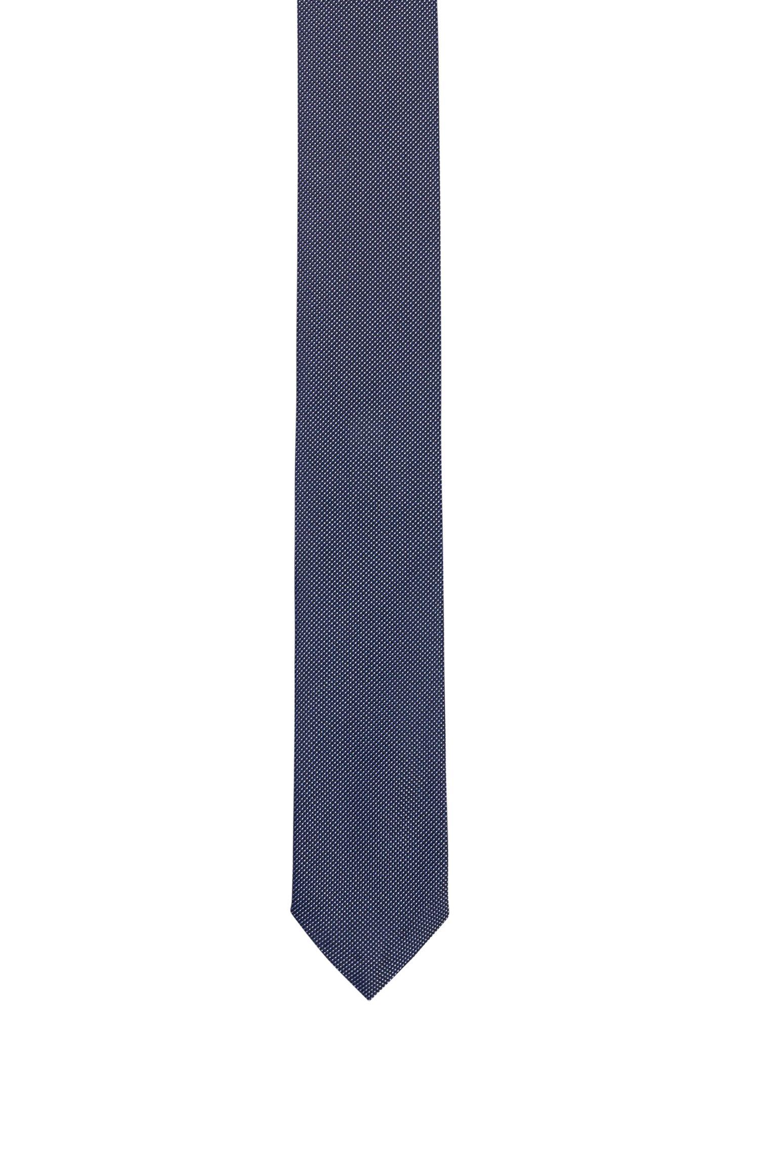 Cravate en pure soie à micro-motif