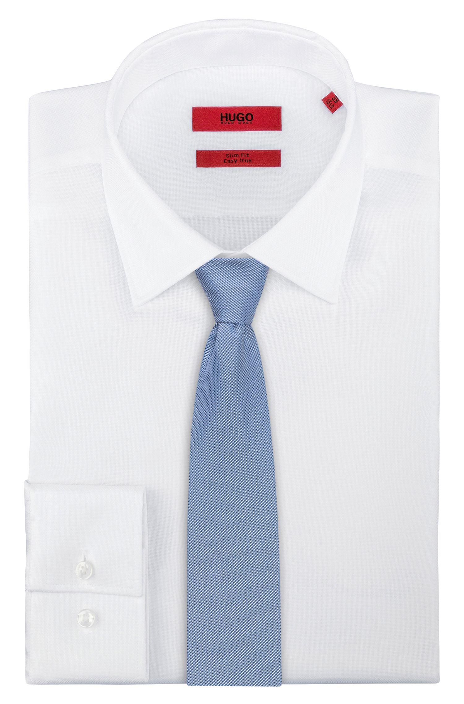 Cravatta in pura seta con micromotivo
