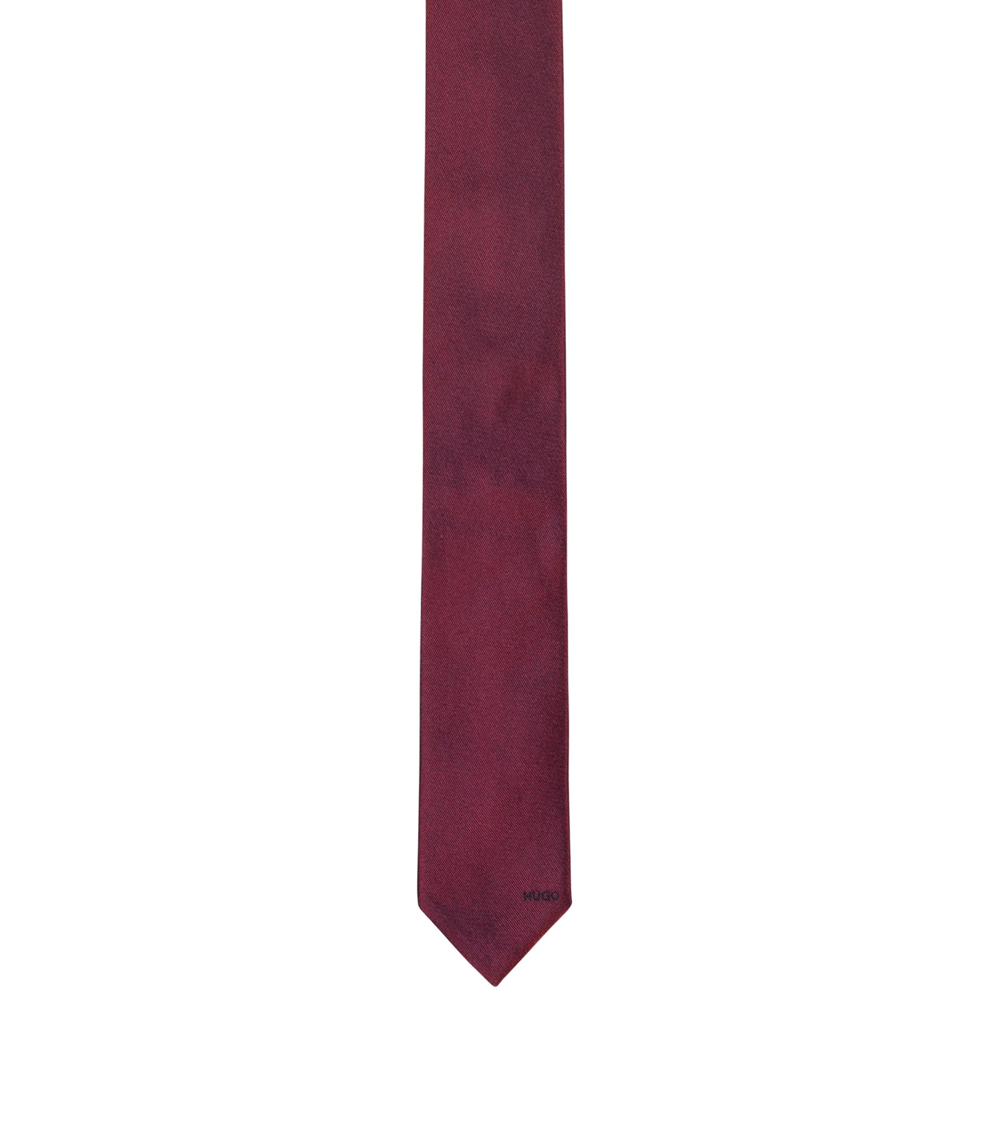 Minimalist jacquard tie in pure silk, Red