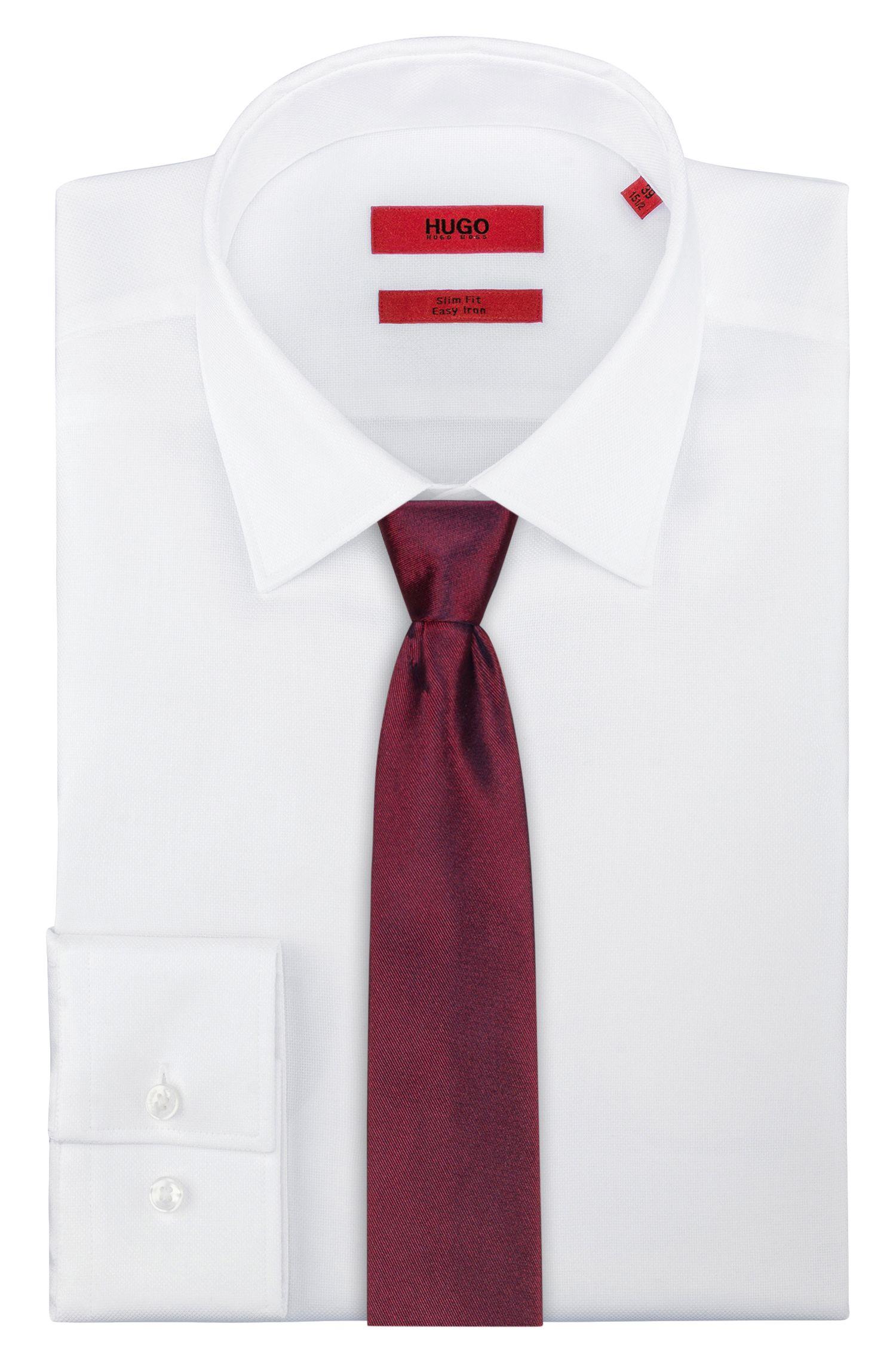 Cravate minimaliste en jacquard de pure soie