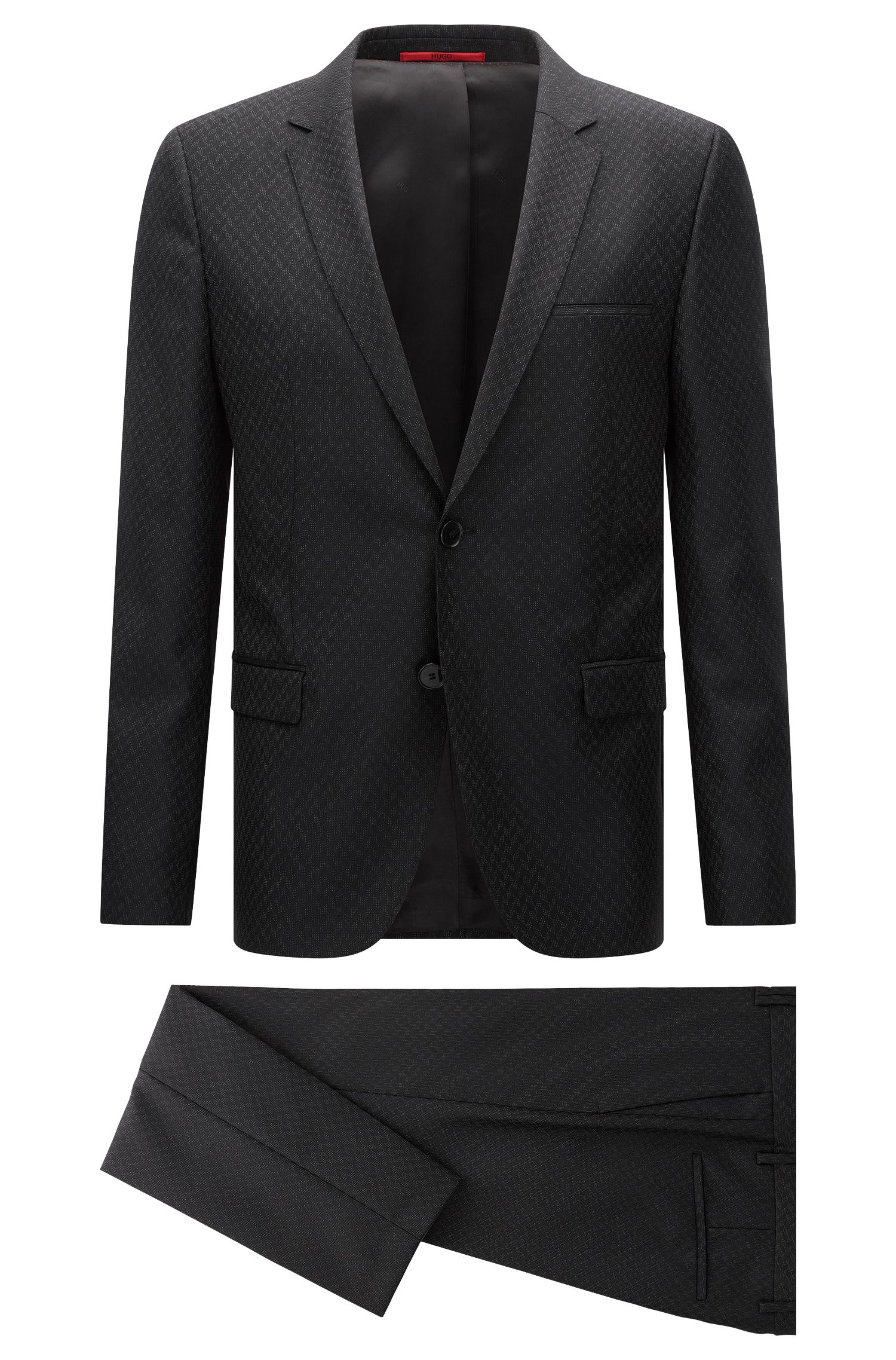 Extra-slim-fit suit in wool and silk