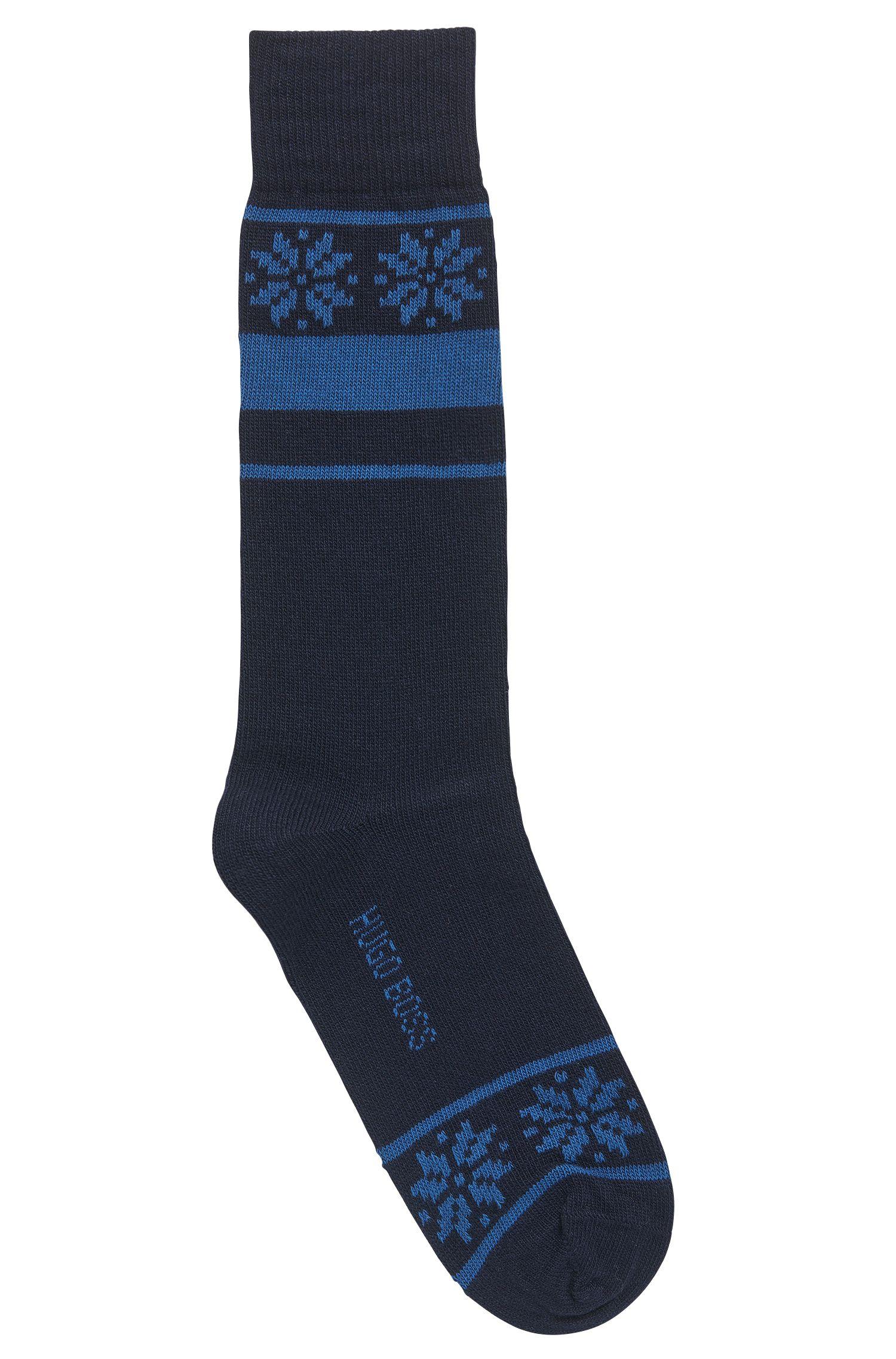 Mittelhohe Socken aus strapazierfähigem Material-Mix
