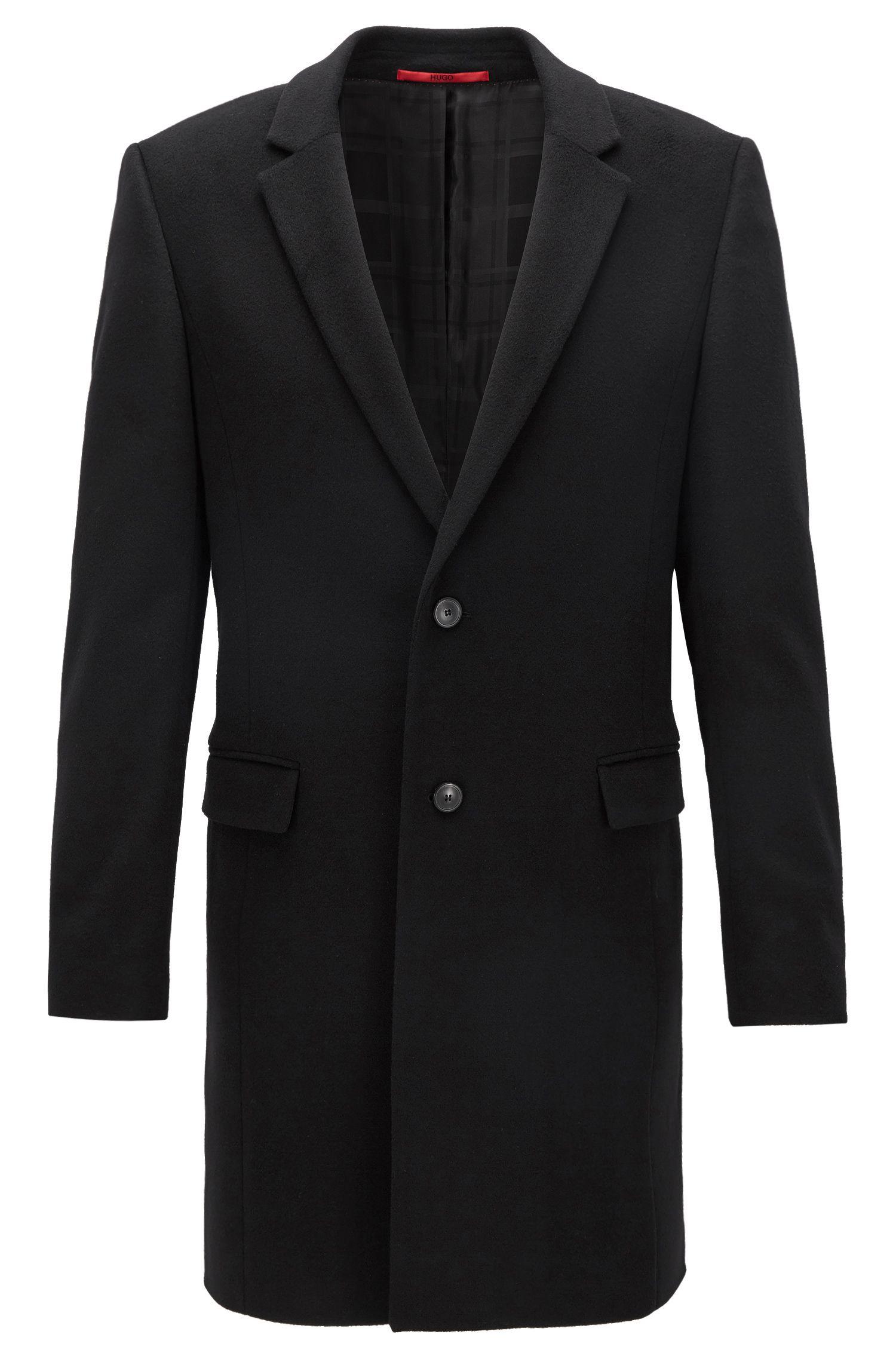Extra slim-fit mantel van zuivere kasjmier