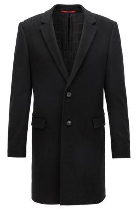 Extra slim-fit mantel van zuivere kasjmier, Zwart