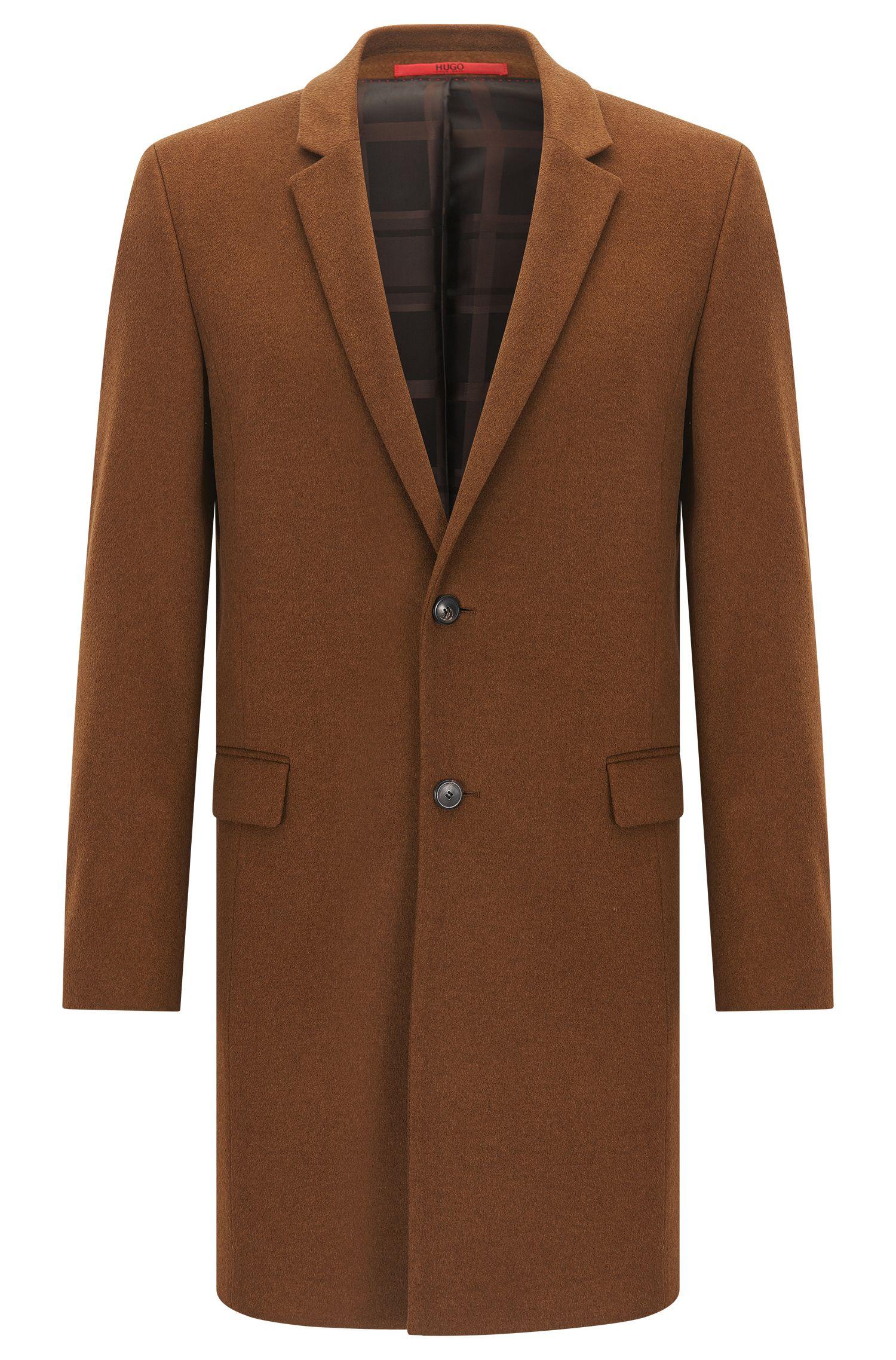 Extra-Slim-Fit-Mantel aus reinem Kaschmir