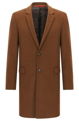 Extra-slim-fit coat in pure cashmere, Brown