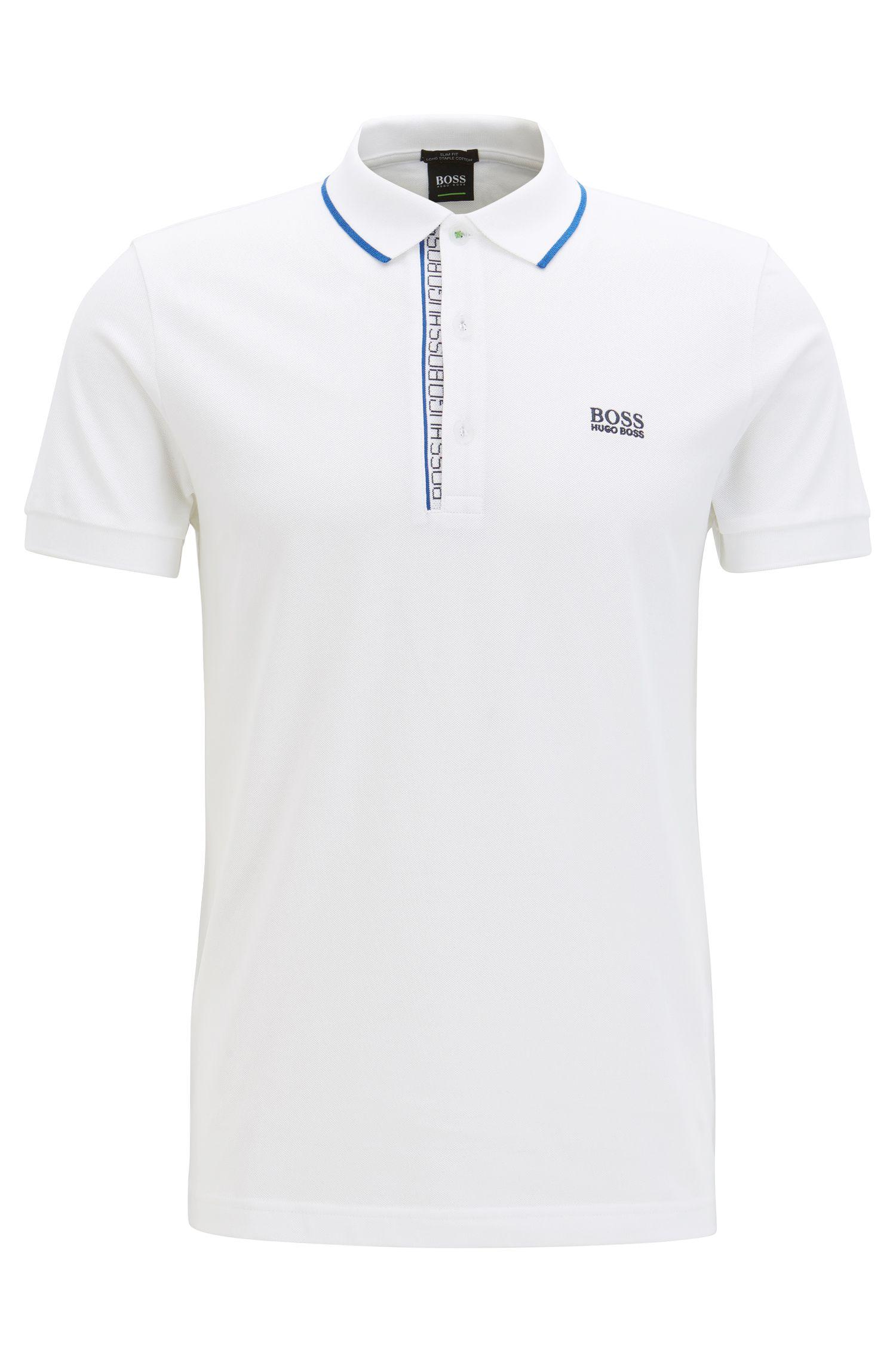 Slim-Fit Poloshirt aus Baumwoll-Piqué mit Logo-Detail