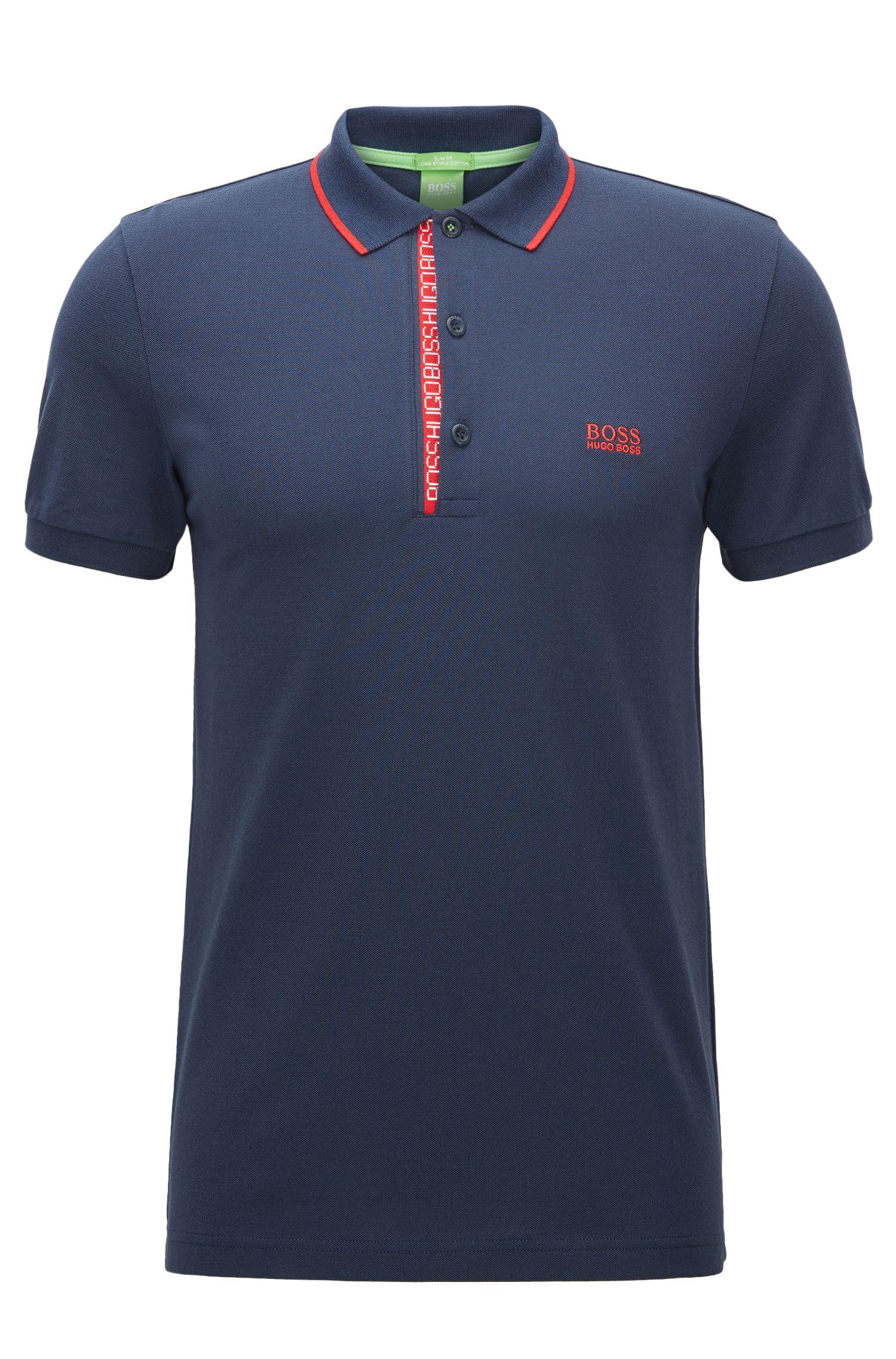 Slim-fit logo polo shirt in cotton piqué