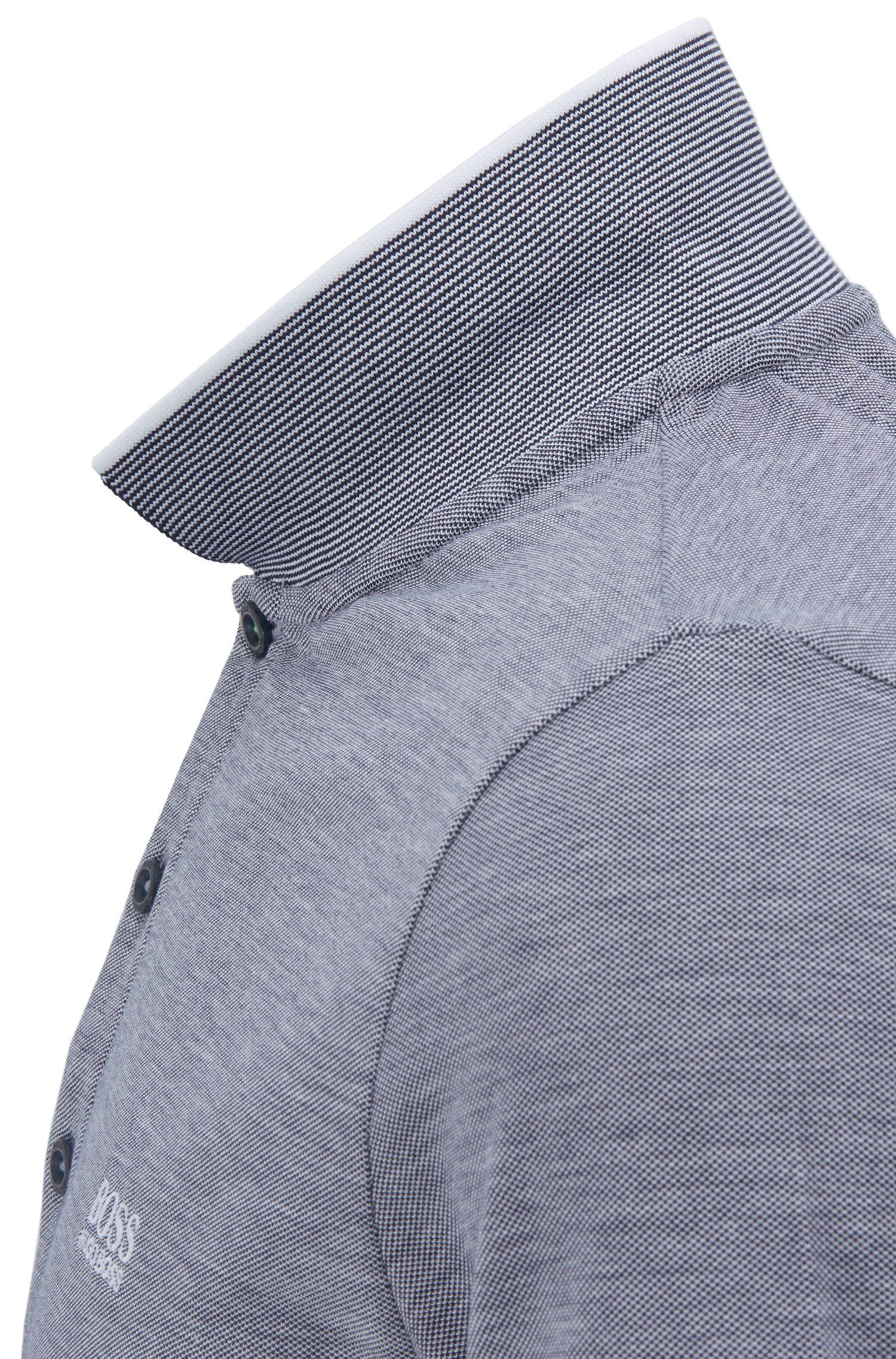 Slim-Fit Poloshirt aus Baumwoll-Piqué mit Logo-Detail, Dunkelblau