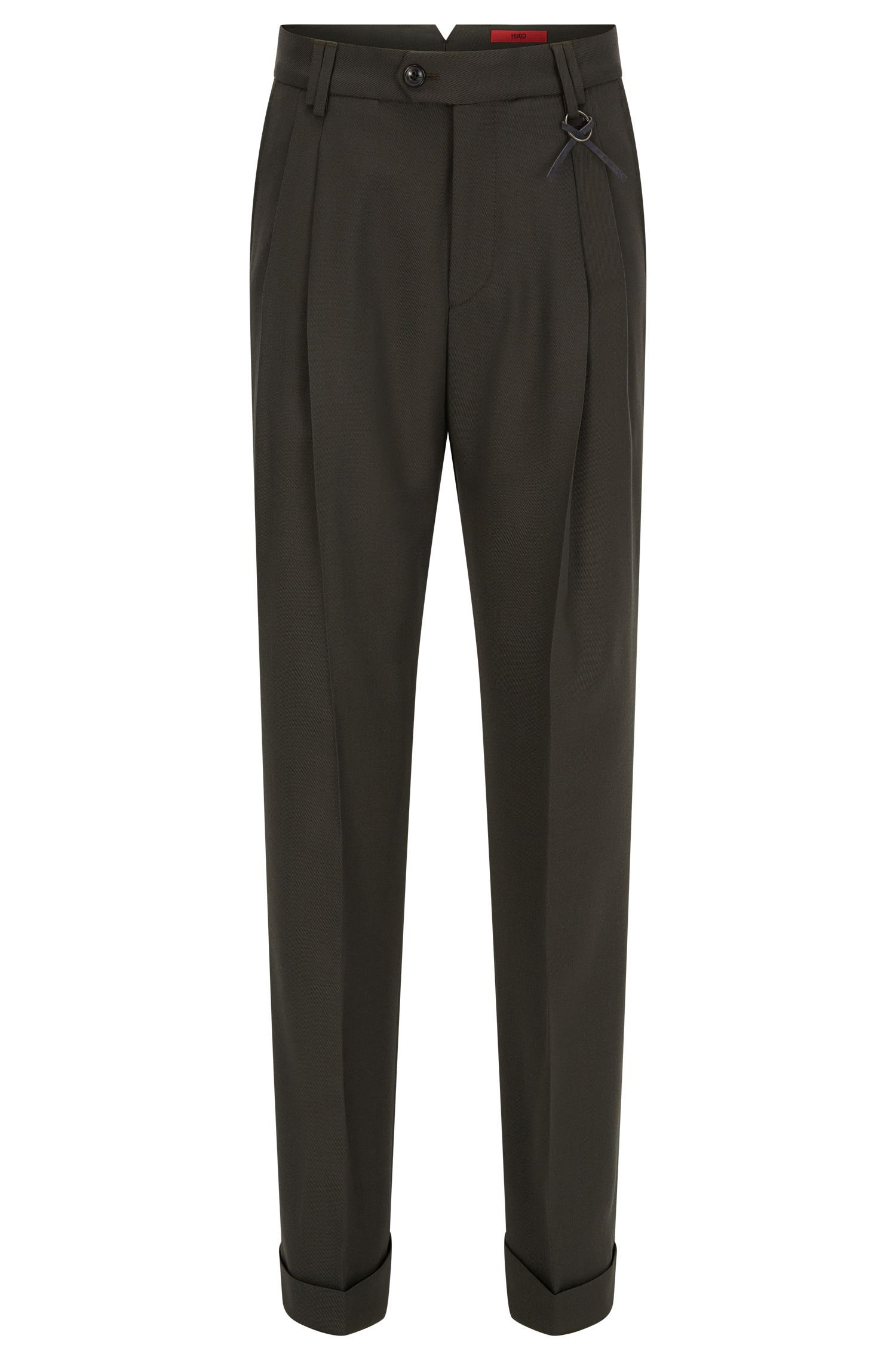 Wide-leg trousers in a wool blend