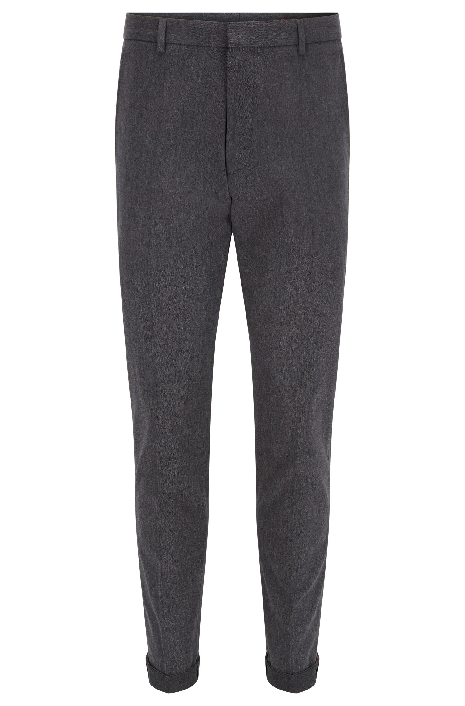 Extra slim-fit broek in een twill van washed stretchkatoen