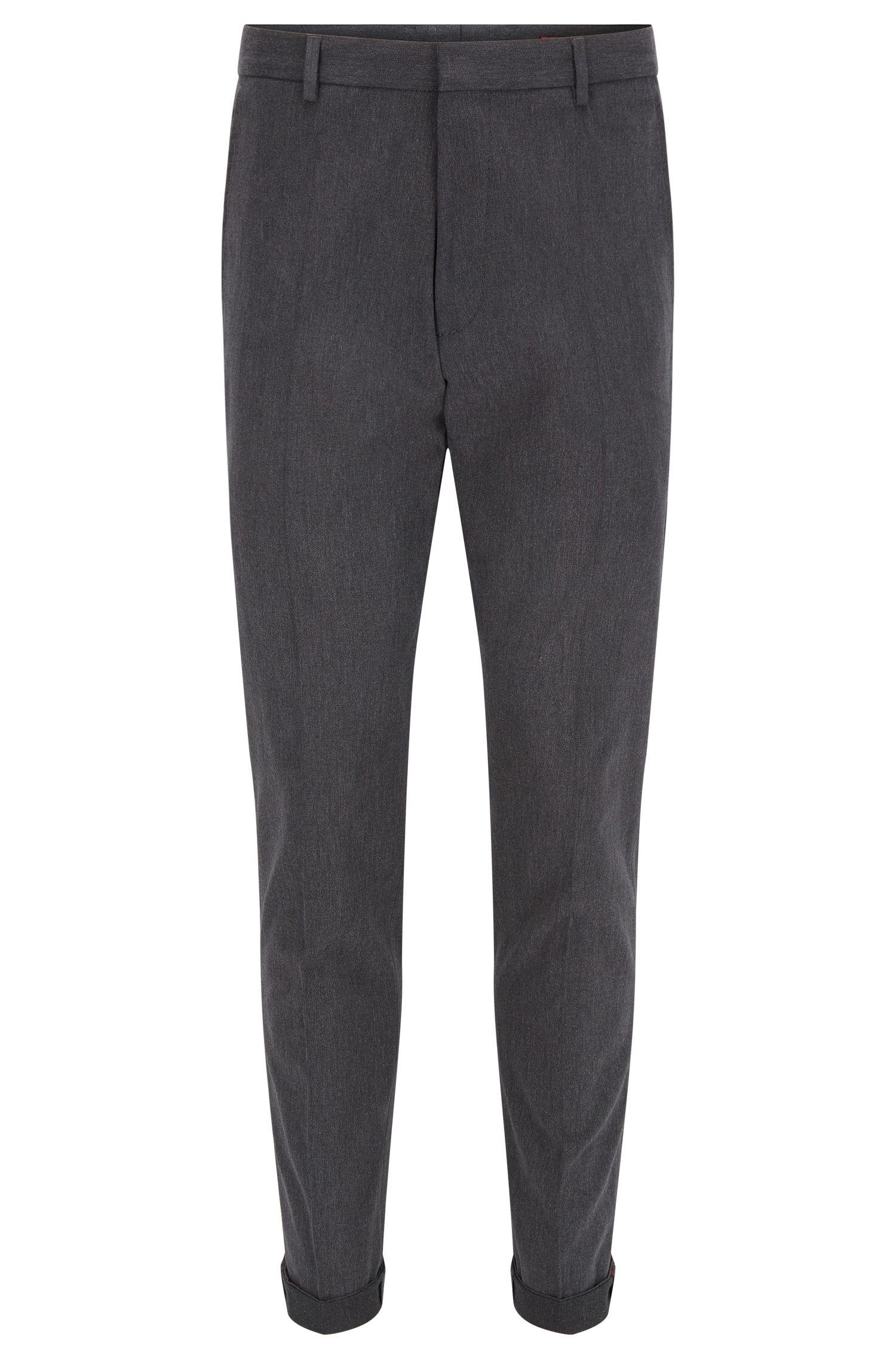 Pantalon Extra Slim Fit en sergé de coton stretch délavé