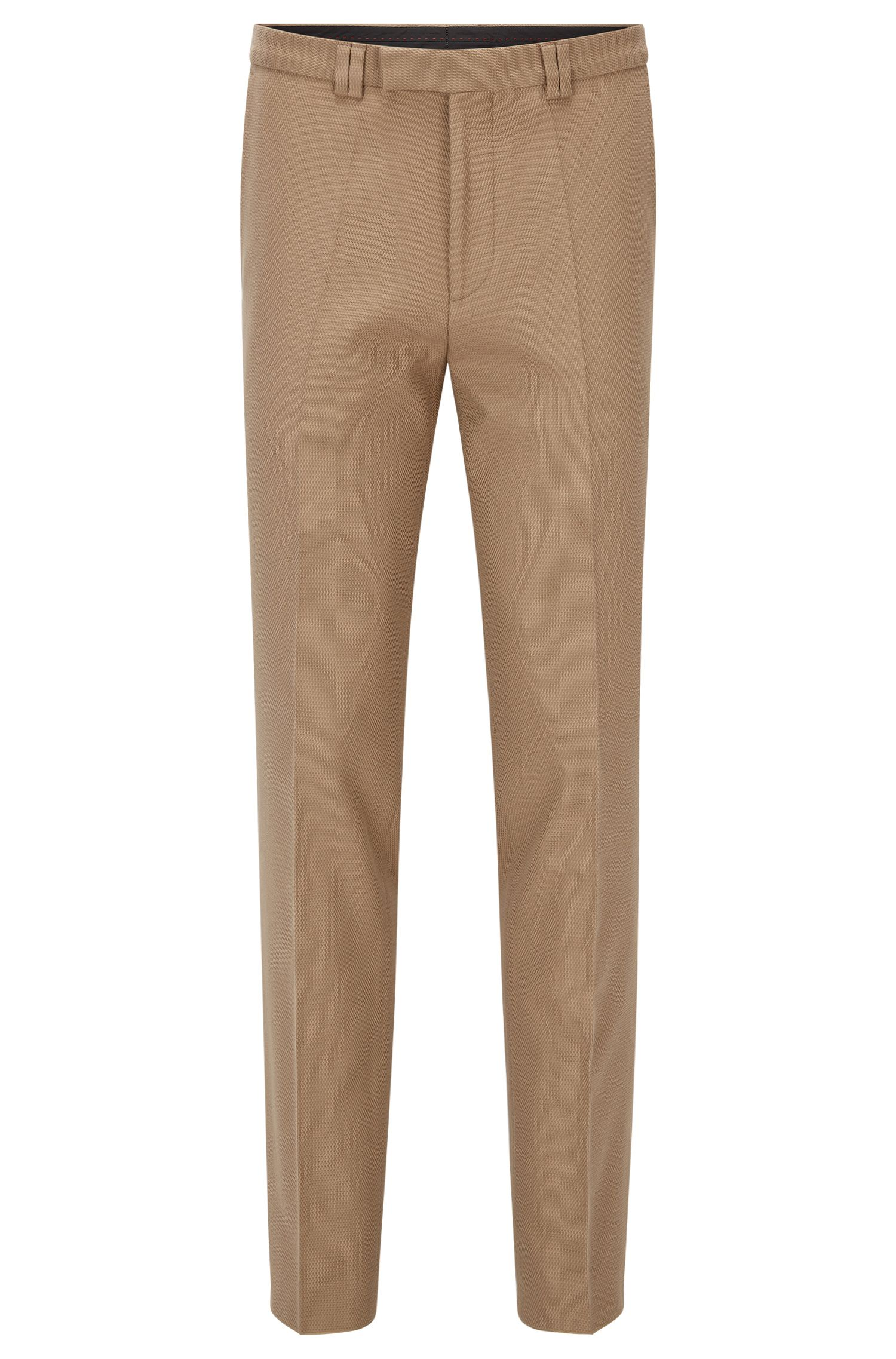 Extra-slim-fit trousers in waffle stretch cotton