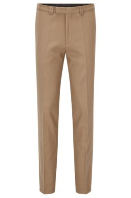 Pantalon Extra Slim Fit en coton stretch gaufré, Beige clair