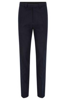 Extra slim-fit broek van stretchkatoen met wafelstructuur, Donkerblauw