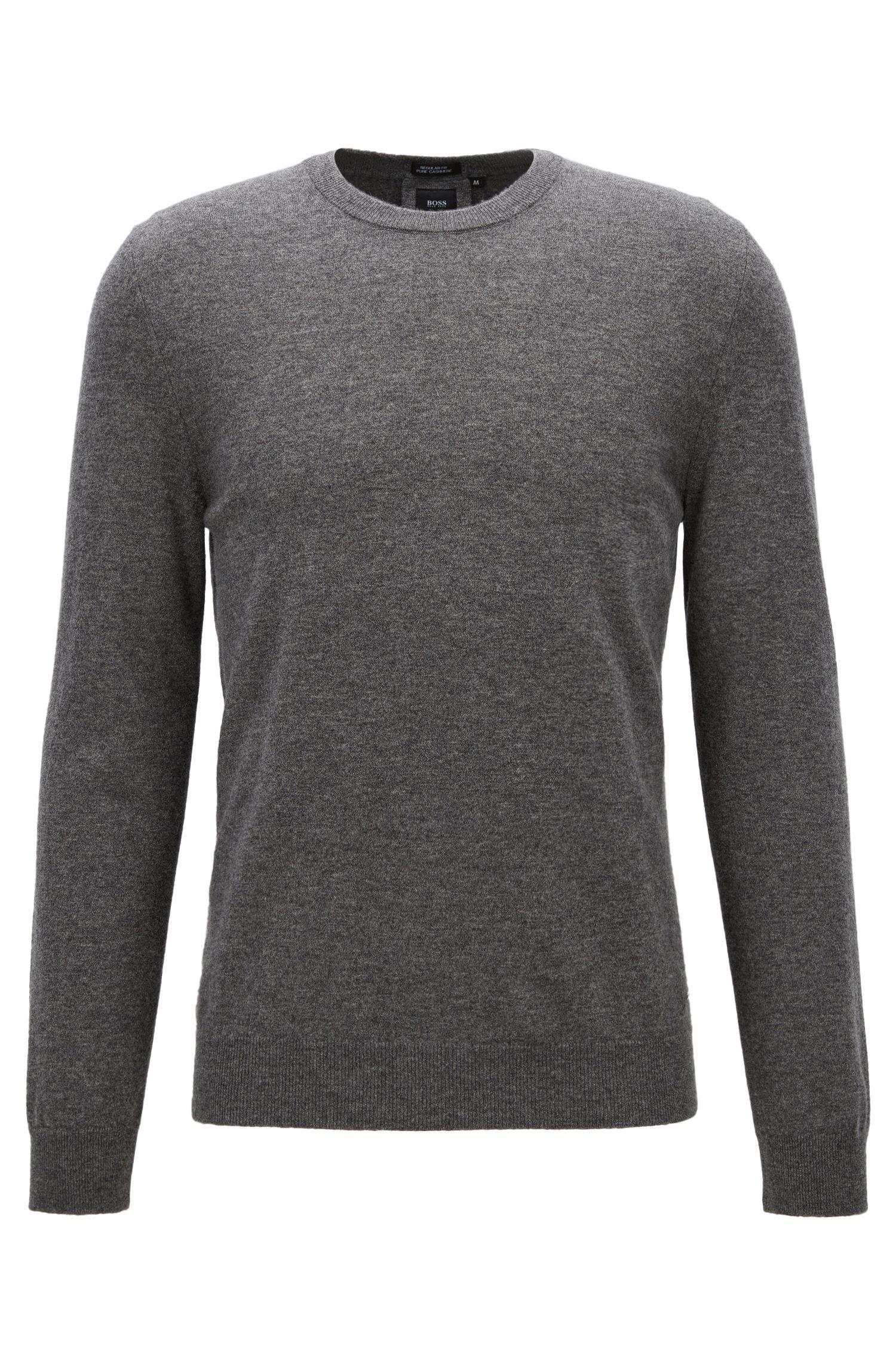 Leichter Regular-Fit Pullover aus italienischem Kaschmir, Grau
