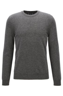 Lightweight sweater in Italian cashmere, Grey