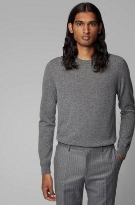 Lichte trui van Italiaans kasjmier, Grijs
