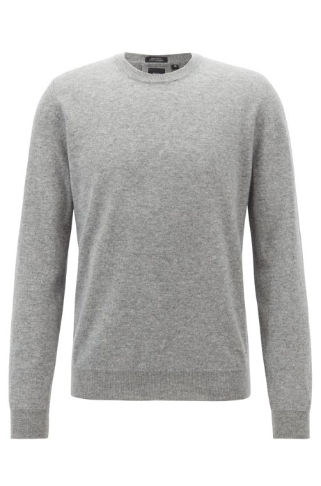 Lightweight sweater in Italian cashmere, Silver