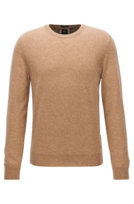 Leichter Regular-Fit Pullover aus italienischem Kaschmir, Beige