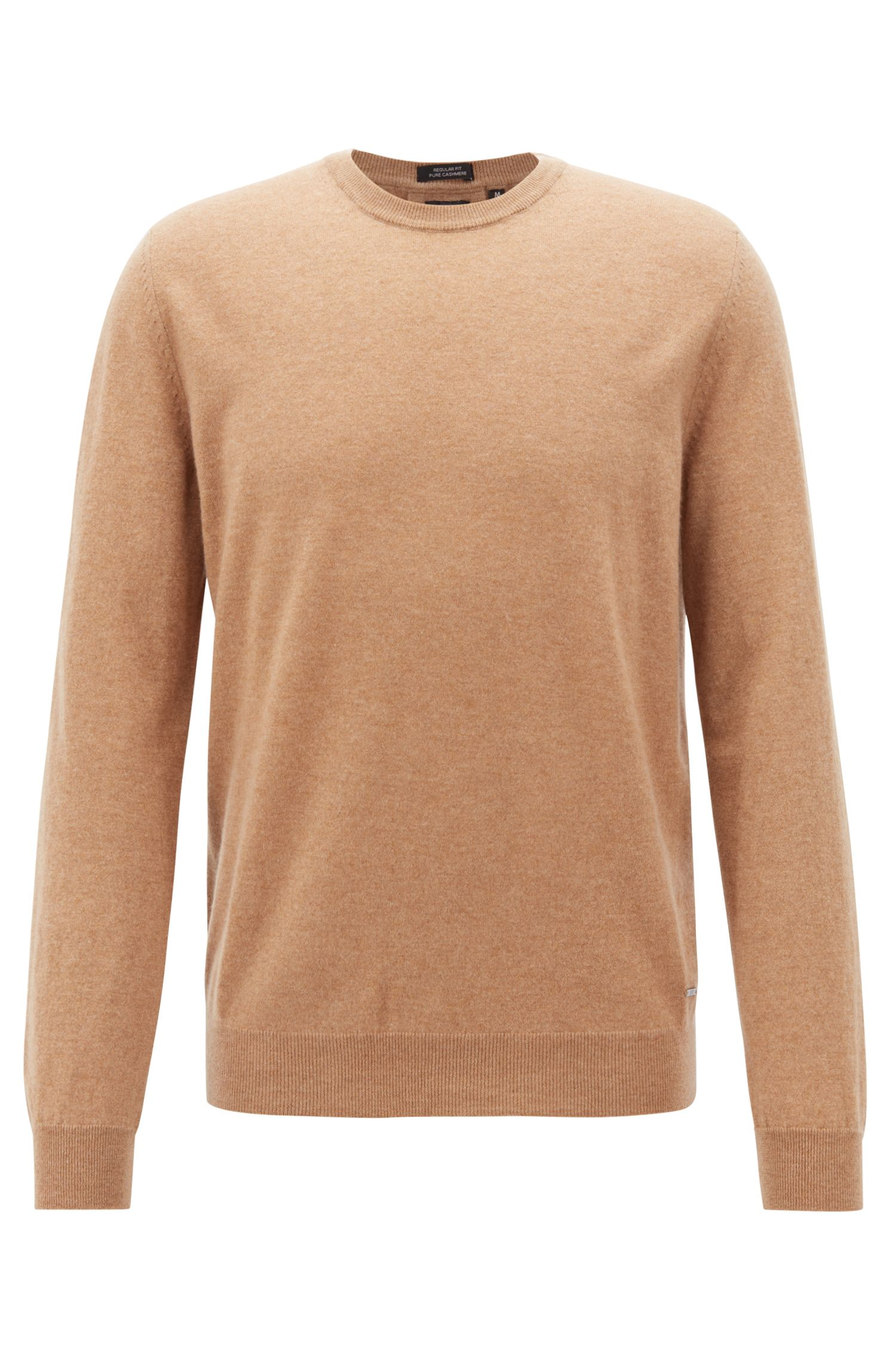 Lightweight sweater in Italian cashmere, Beige