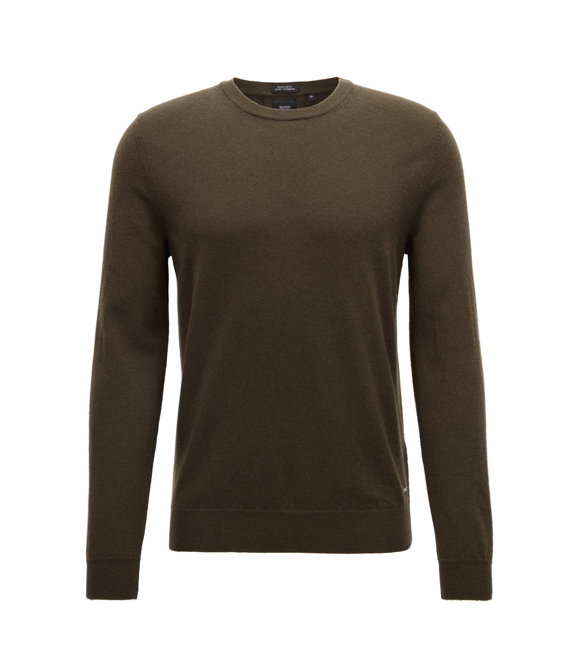 Lightweight sweater in Italian cashmere, Dark Green