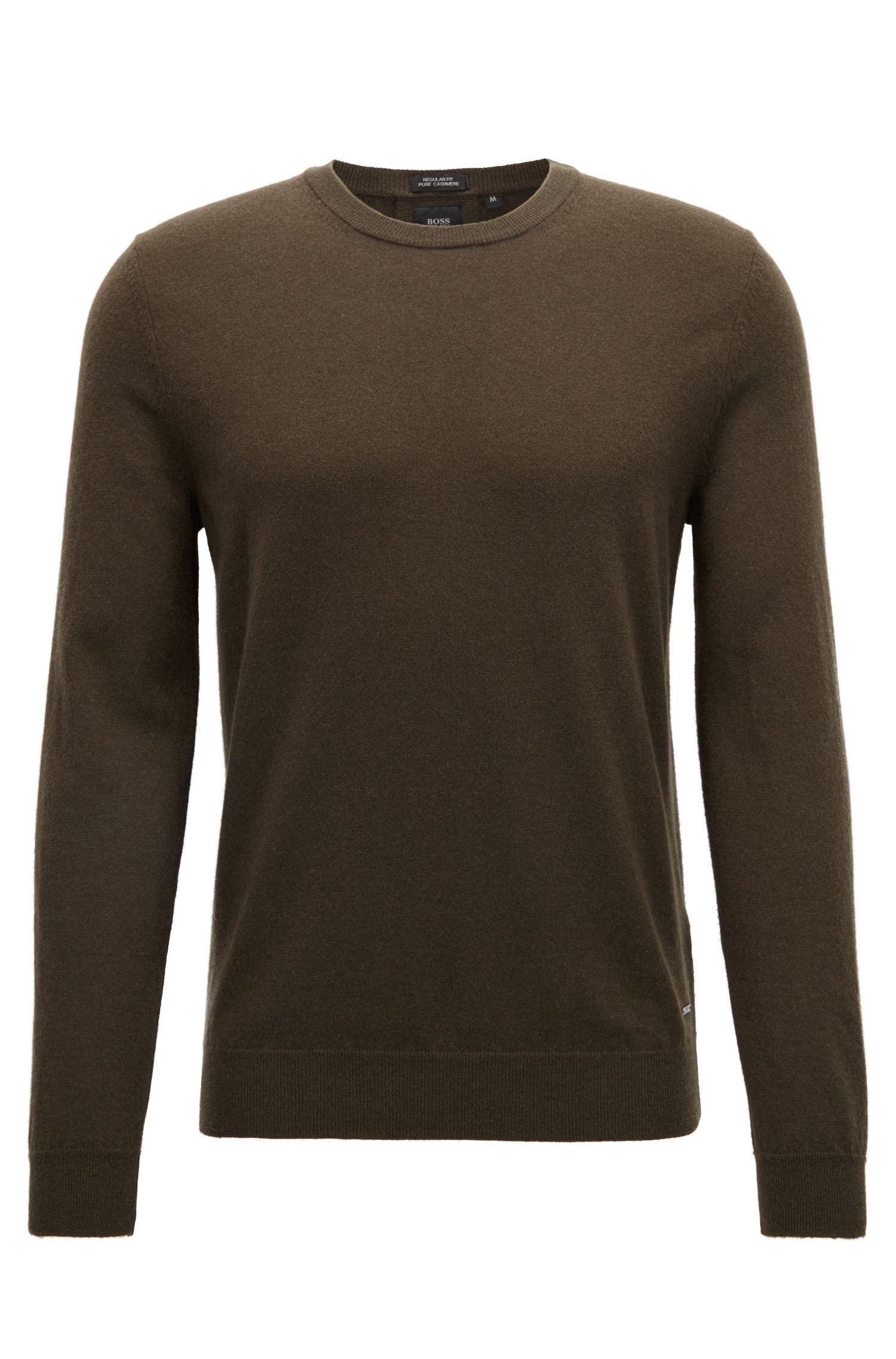 Lightweight sweater in Italian cashmere, Dark Green