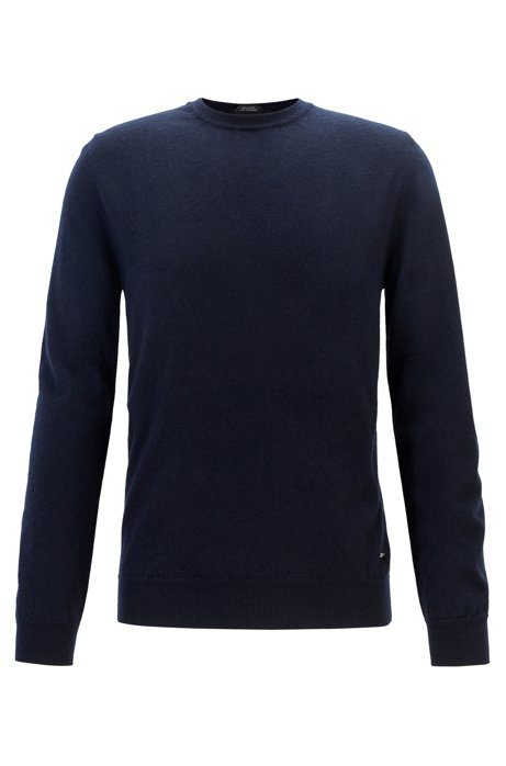Lightweight sweater in Italian cashmere, Dark Blue
