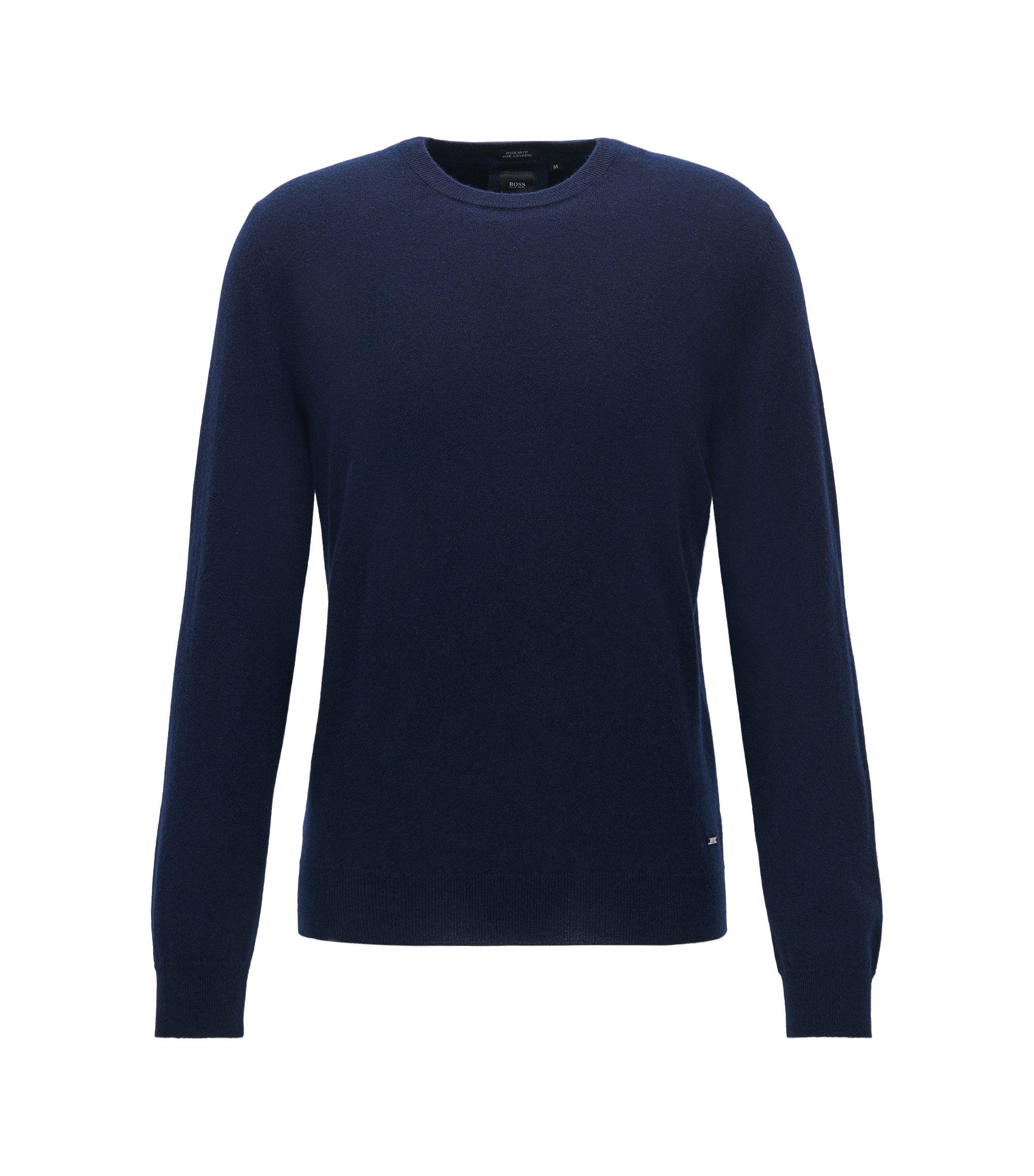 Maglione leggero in cashmere italiano, Blu scuro
