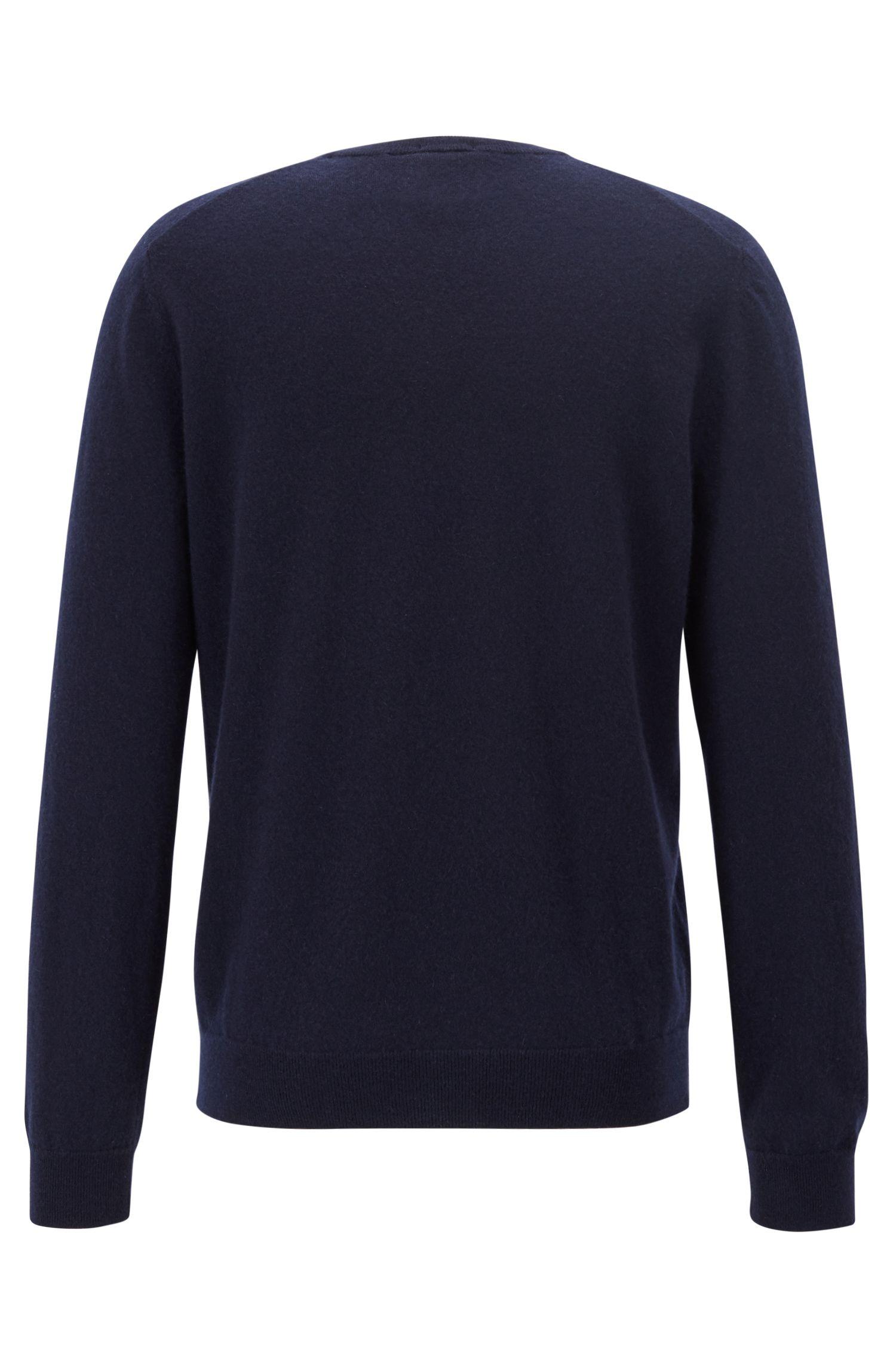Leichter Regular-Fit Pullover aus italienischem Kaschmir, Dunkelblau